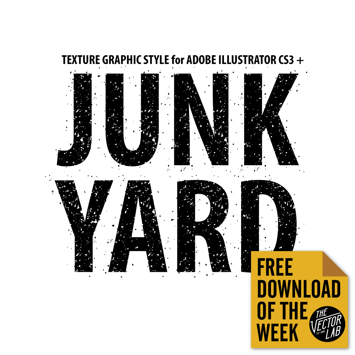 Junk Yard Texture Graphic Style for Illustrator