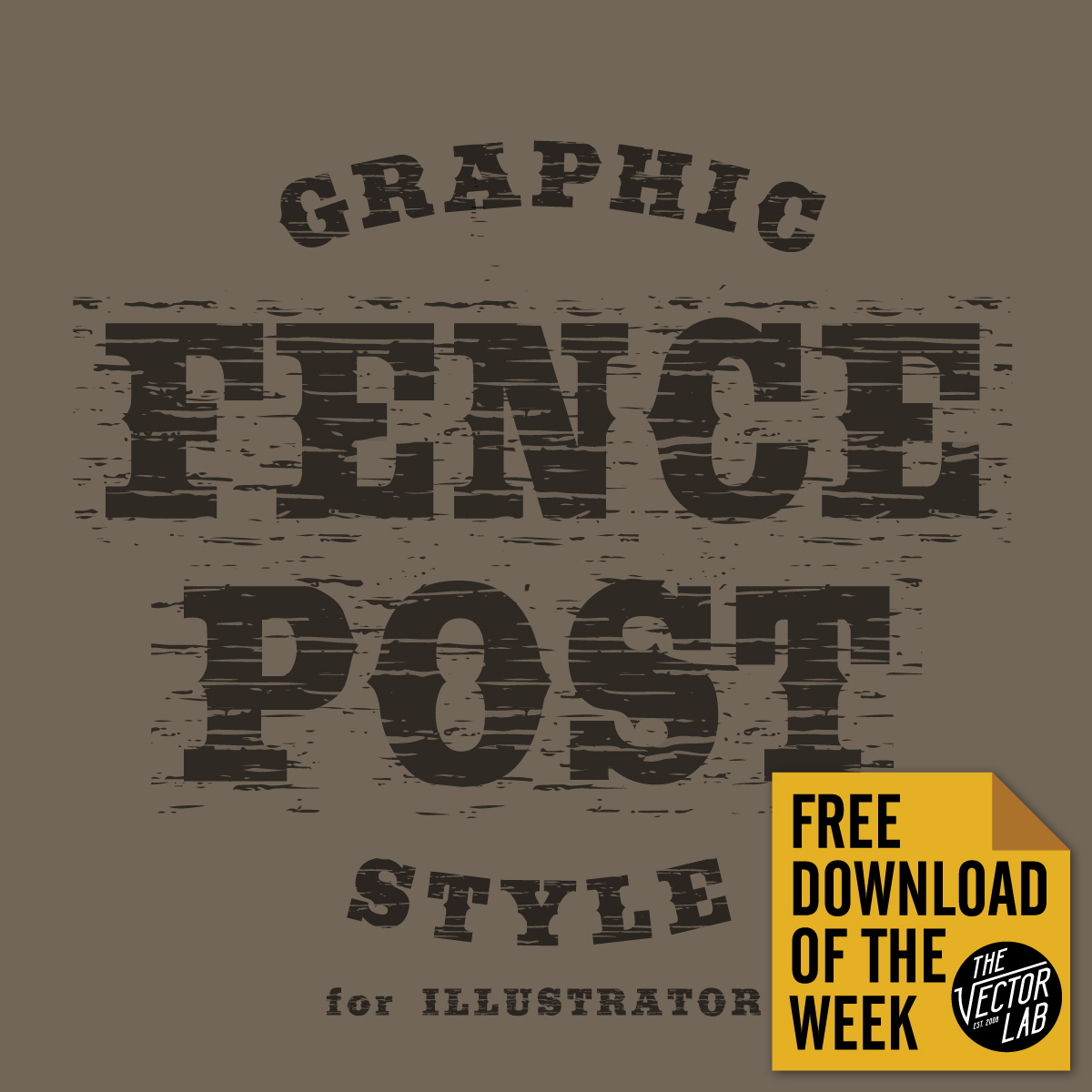 Fence Post Graphic Style for Illustrator