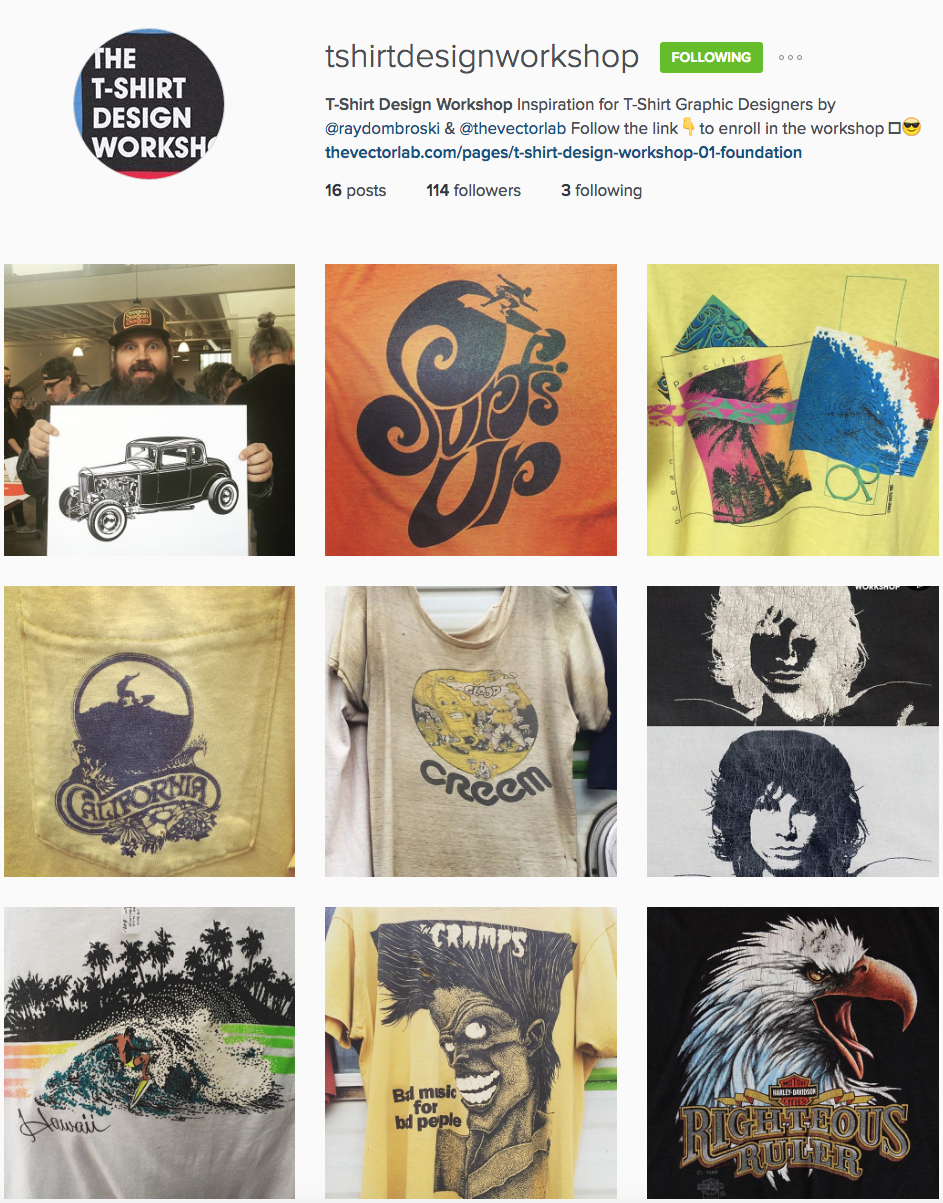 T-Shirt Design Workshop Instagram