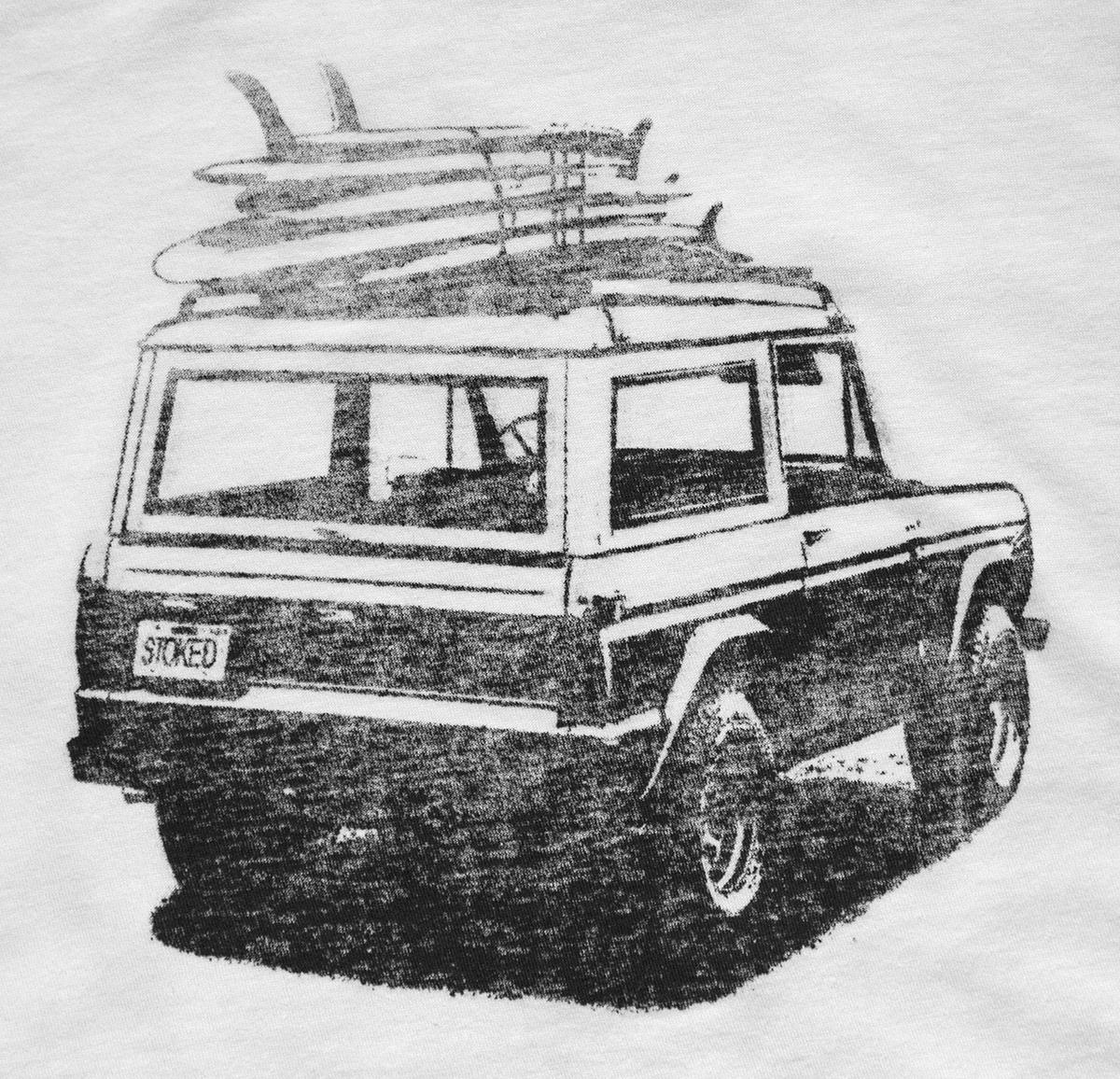 Reverse screen print t-shirt
