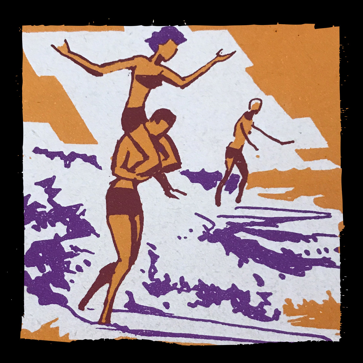 Vintage Waikiki Surfing - Distressed Border Automator for Photoshop