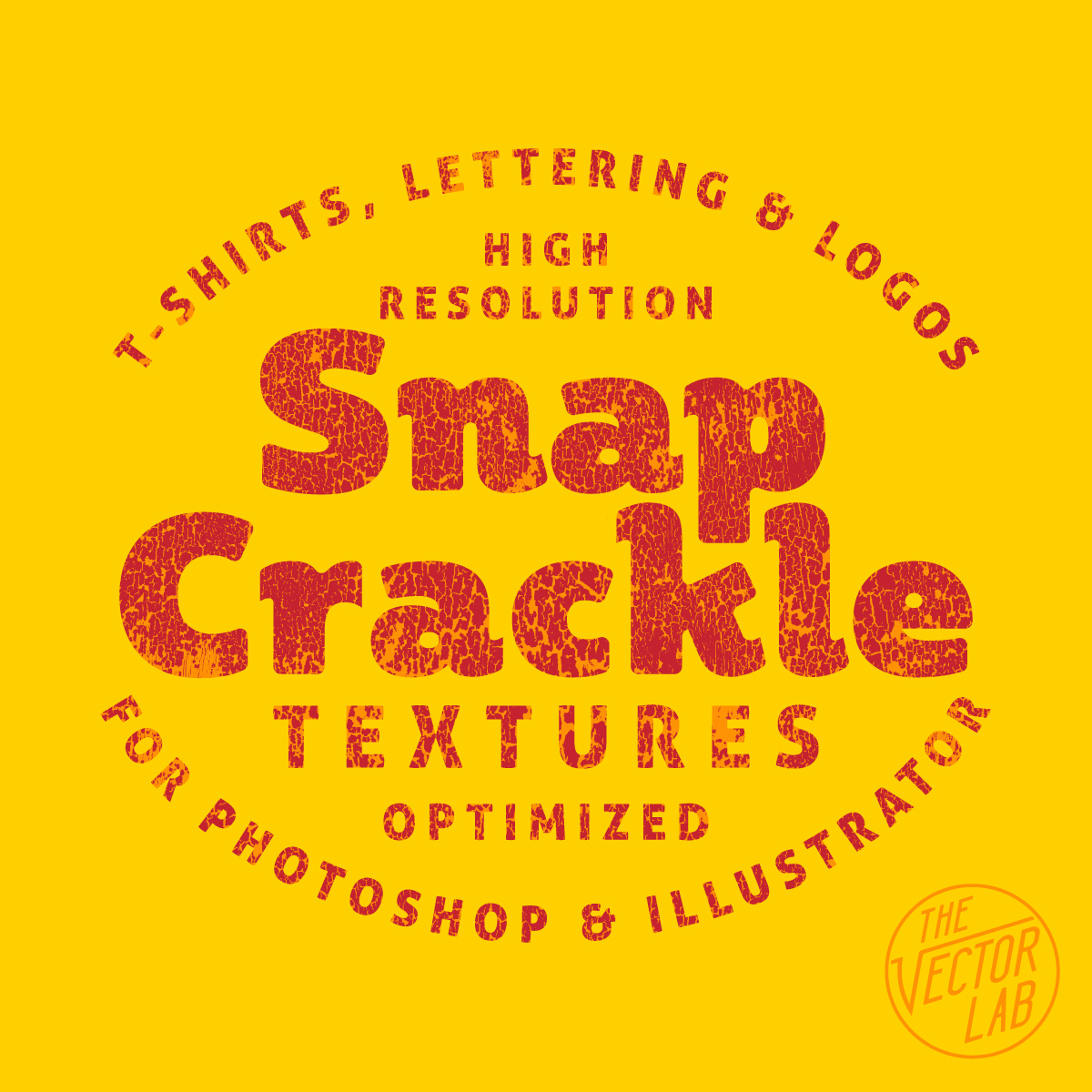 Snap Crackle Textures for Photoshop and Illustrator