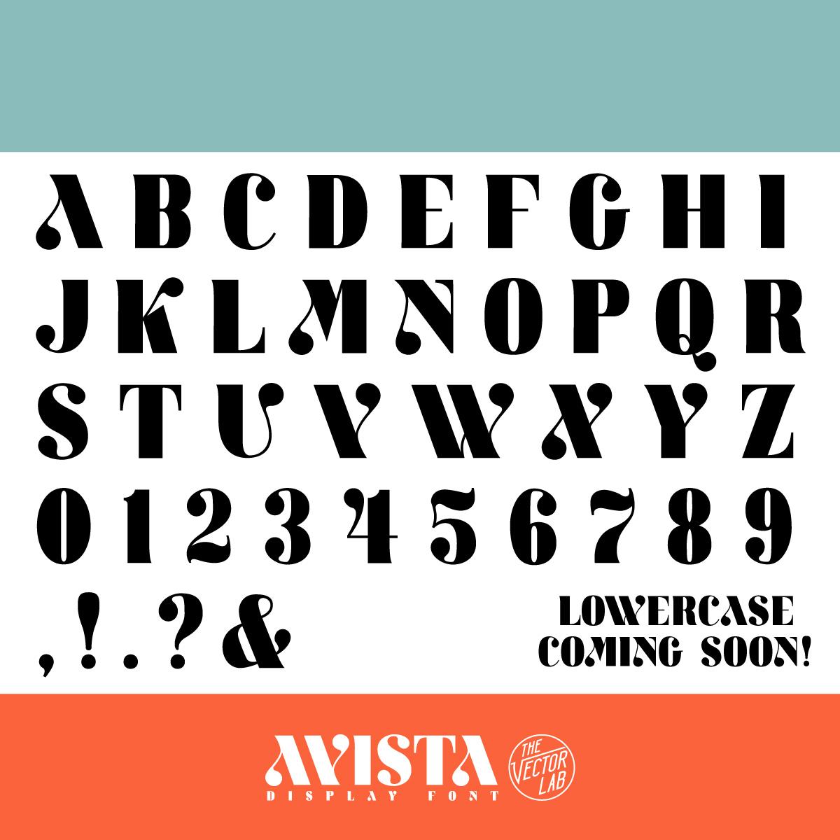 AVISTA font by Ray Dombroski & TheVectorLab
