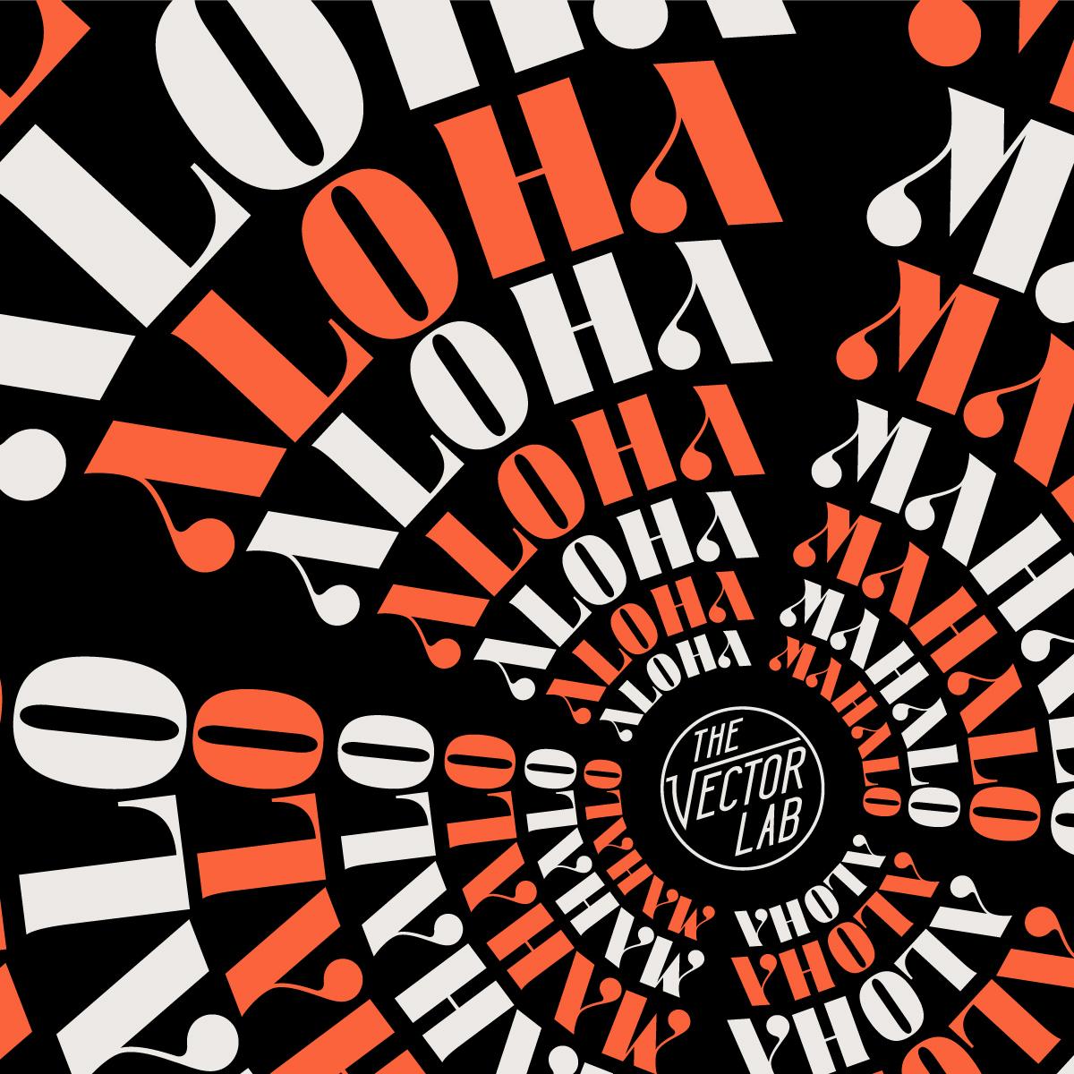 Aloha & Mahalo - AVISTA font by Ray Dombroski & TheVectorLab