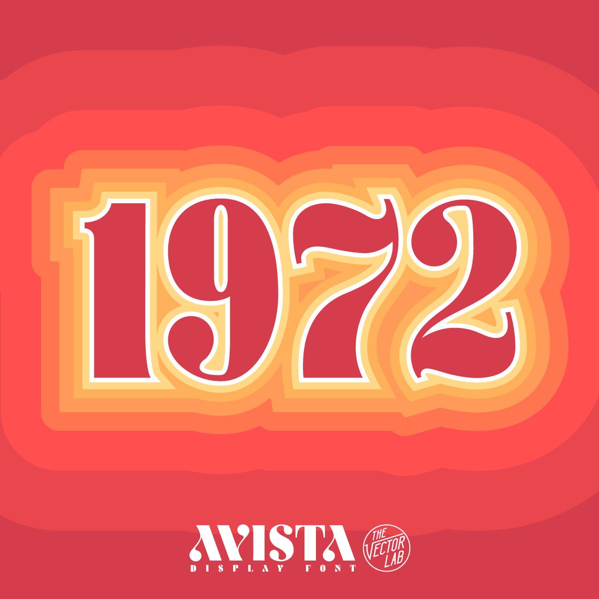 1972 - AVISTA font by Ray Dombroski & TheVectorLab