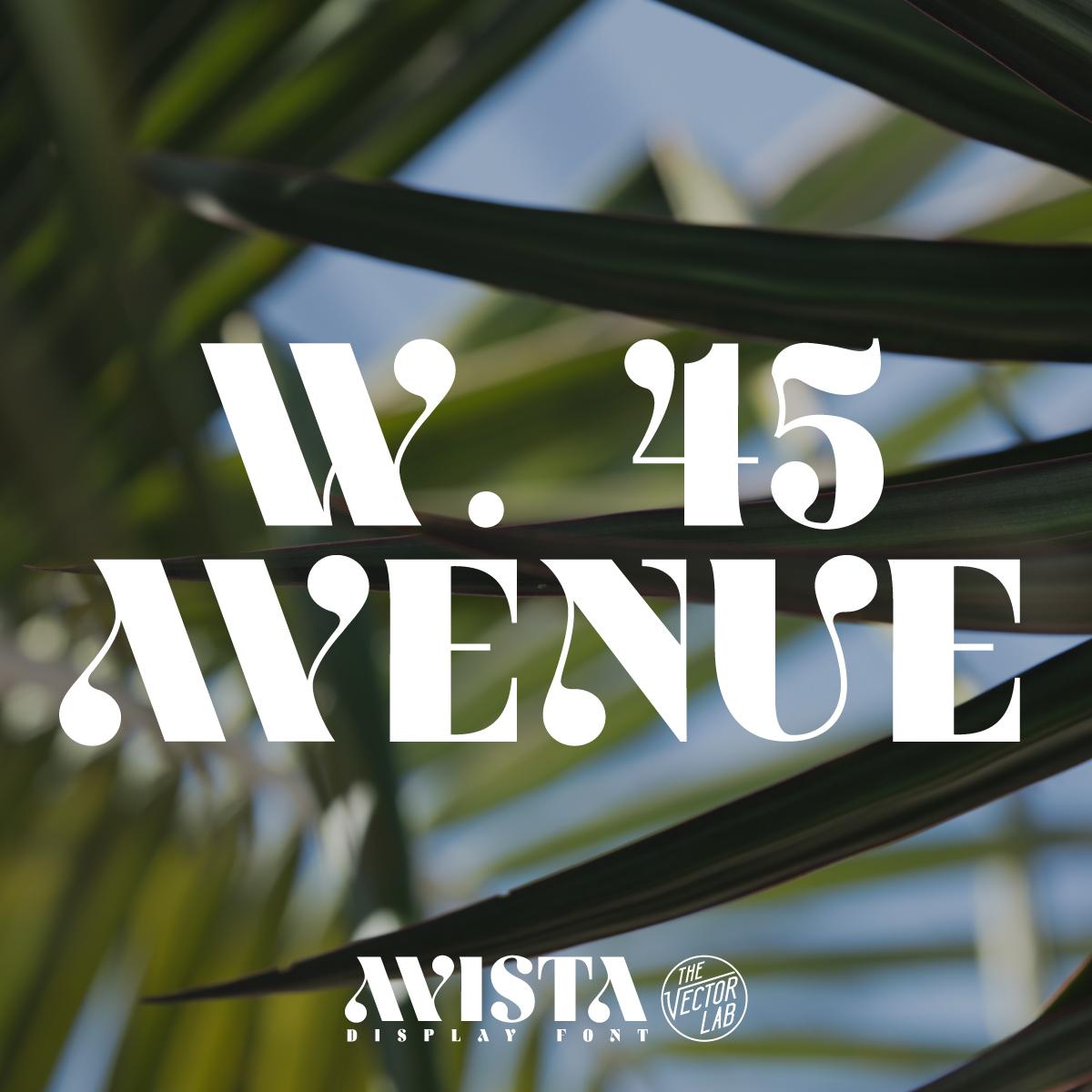 W. 45 Avenue - AVISTA font by Ray Dombroski & TheVectorLab