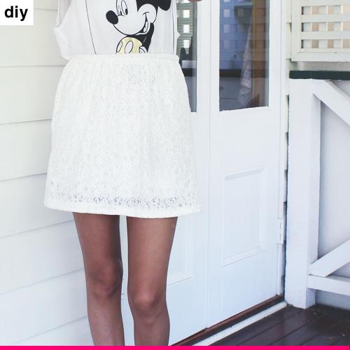 DIY: DRESS TO SKIRT