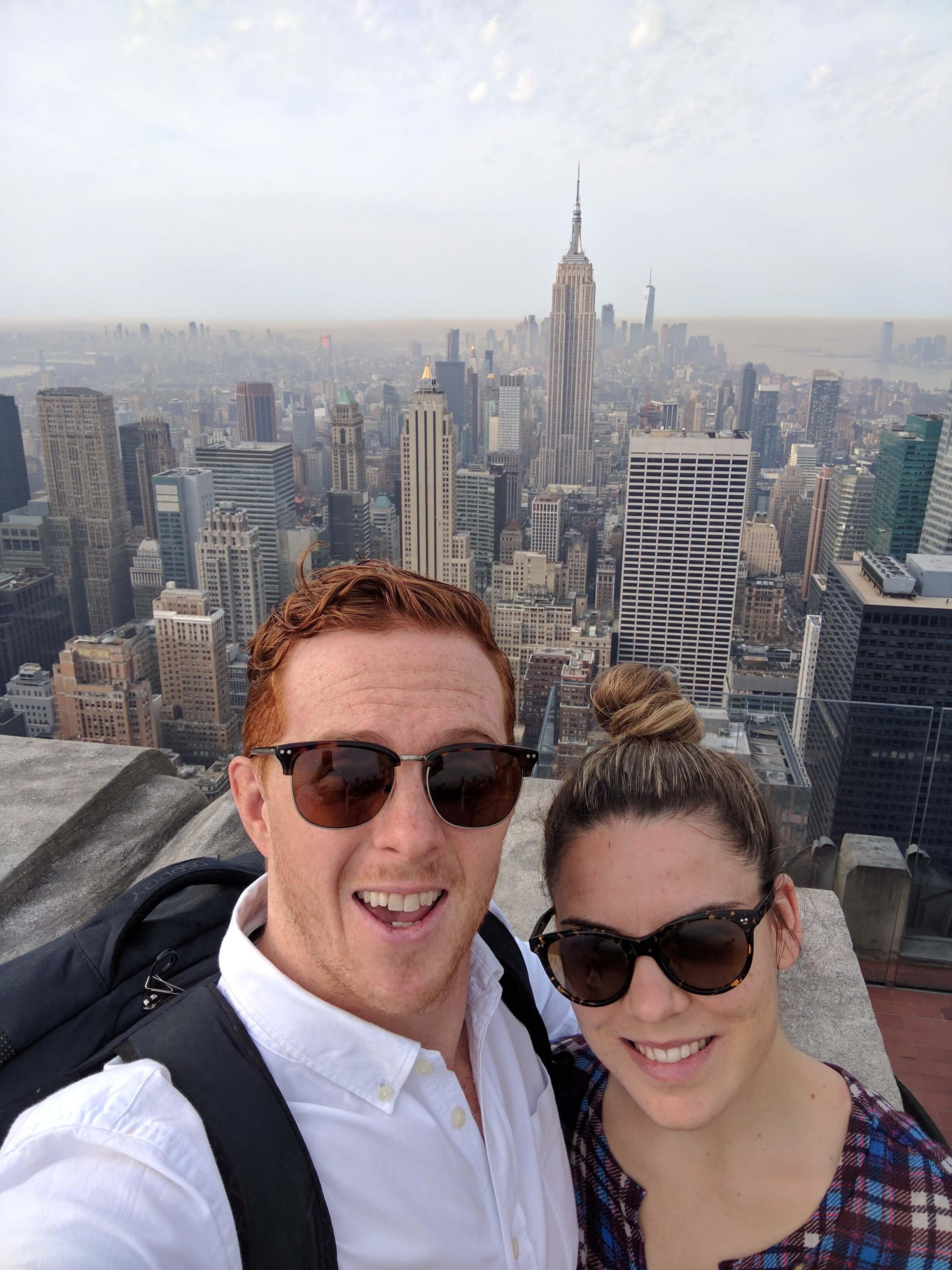 Nick + Berleena Top Of The Rock