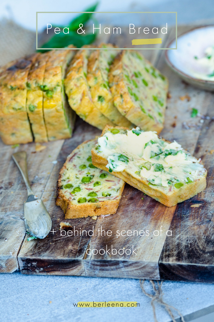 Pea & Ham Bread + behind the scenes of a cookbook