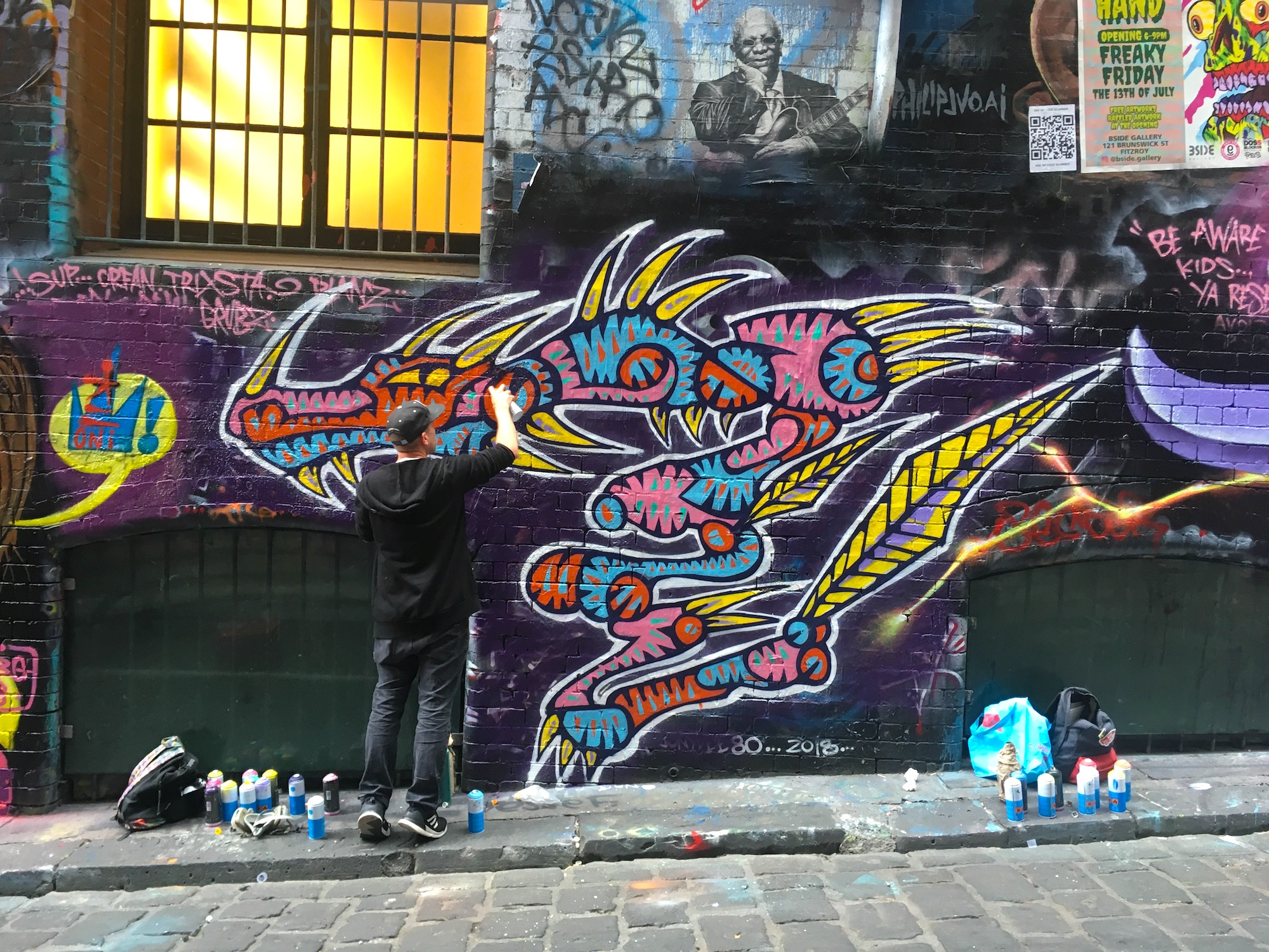 Street Artist  Facter  painting on the event