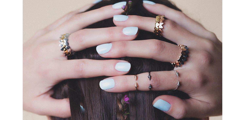 shell midi rings Daniel Darby jewellery