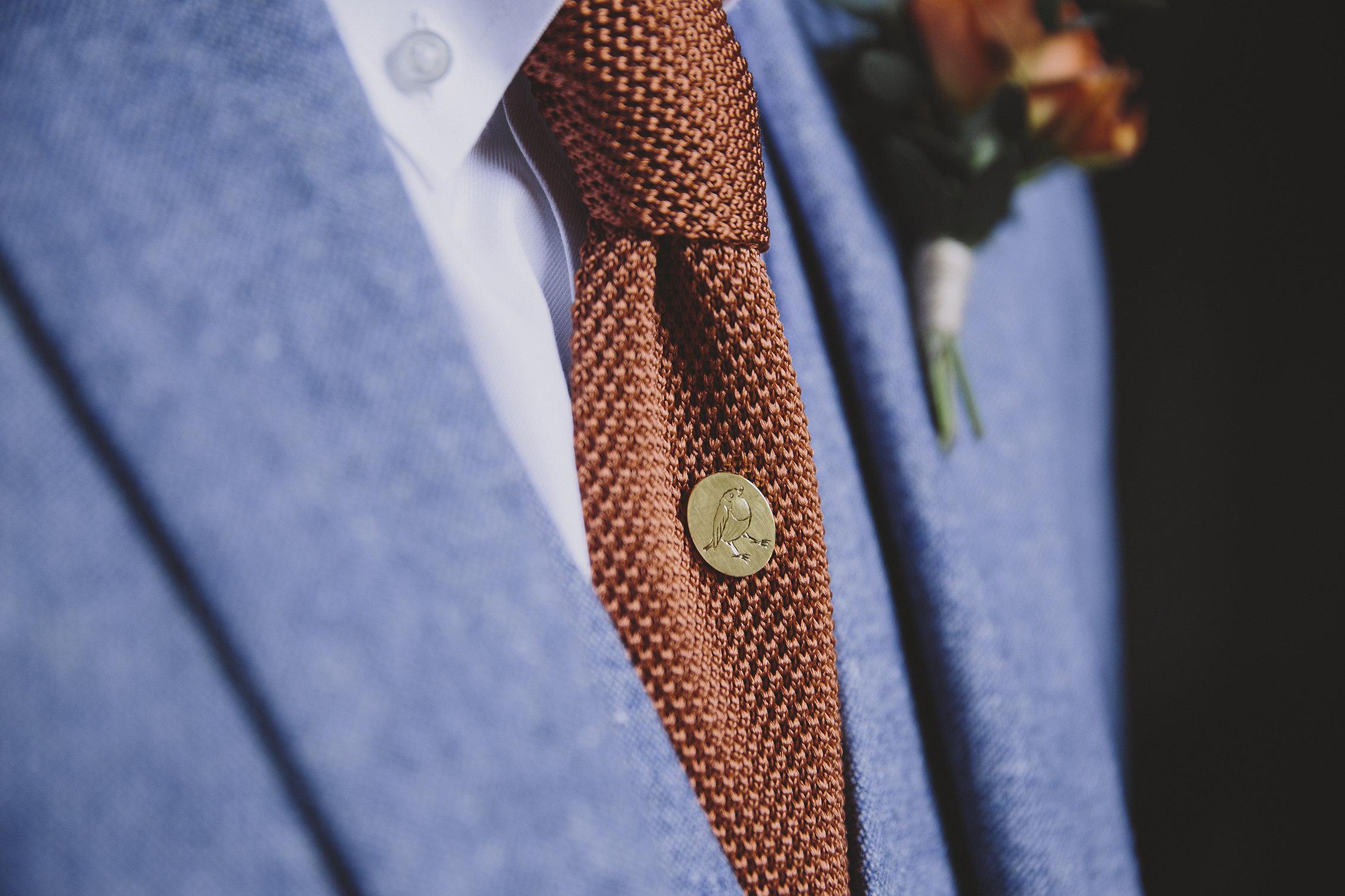 Bespoke engraved tie pin.