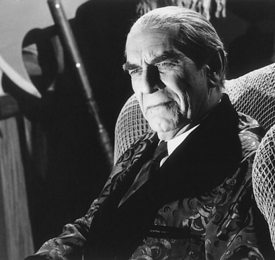"""here is a  link  to a great scene in ed wood where a drunkbela lugosi, played by landau, refused a rehearsal and says """"lets shoot this fucker!""""."""