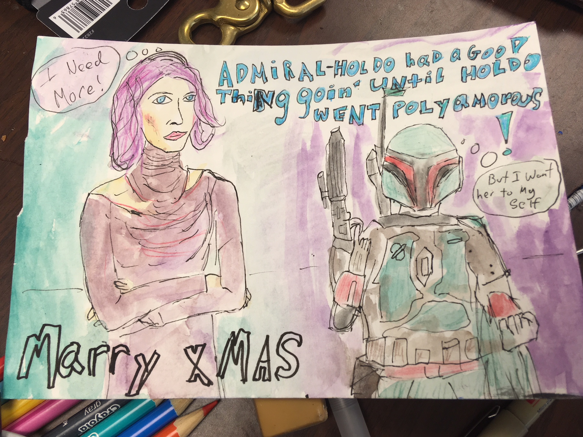 christmas card to dop brandon trost and family