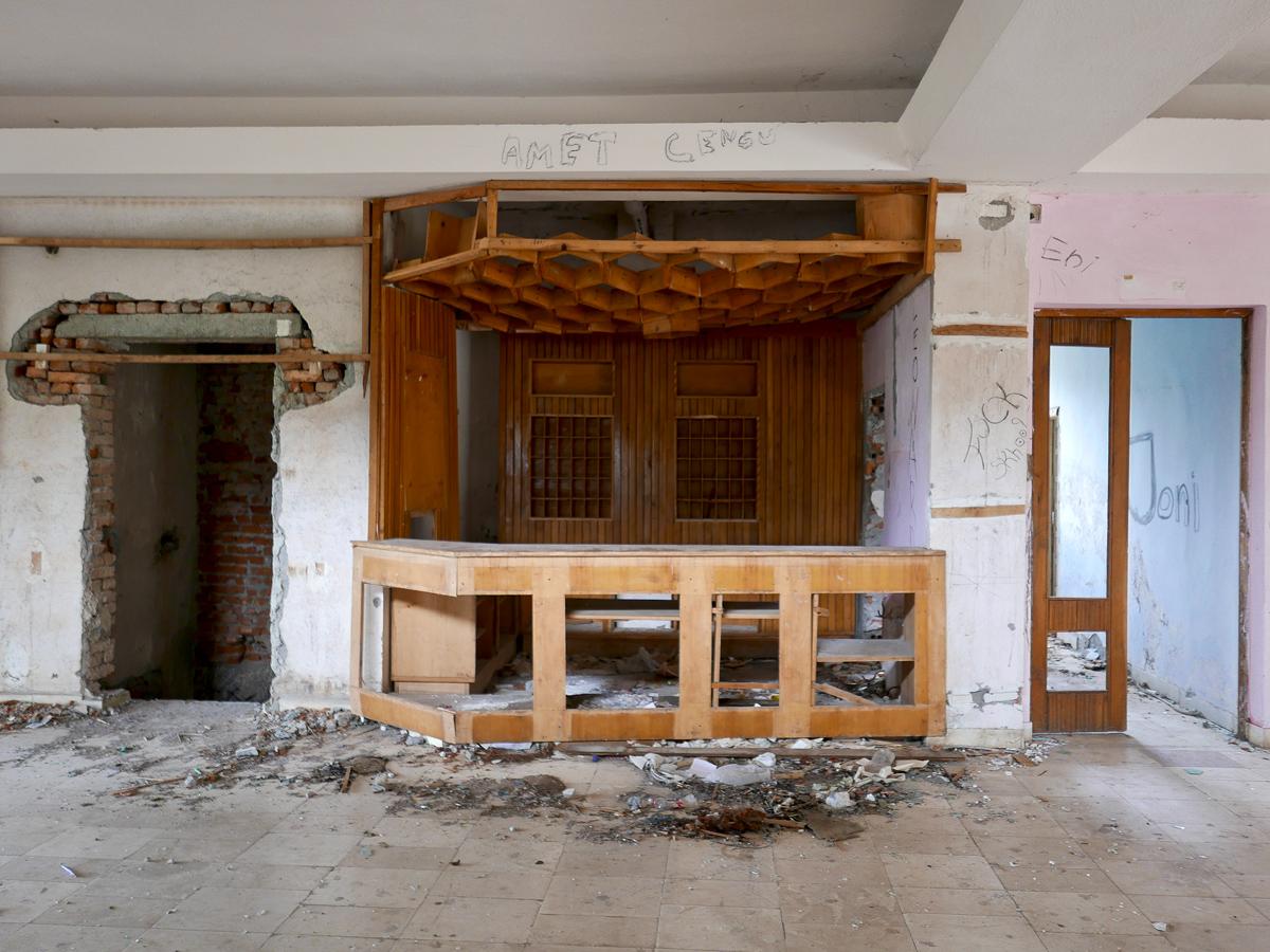 ©alketa misja photography, Reception desk Old Hotel, ,Kukës Albania 2015