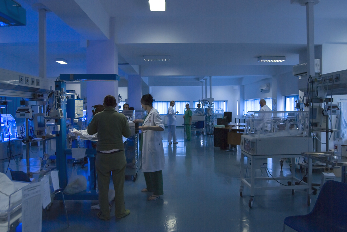 Neonatal Intensive Care Unit, 2008, Tirana, Albania, copyright alketa misja photography