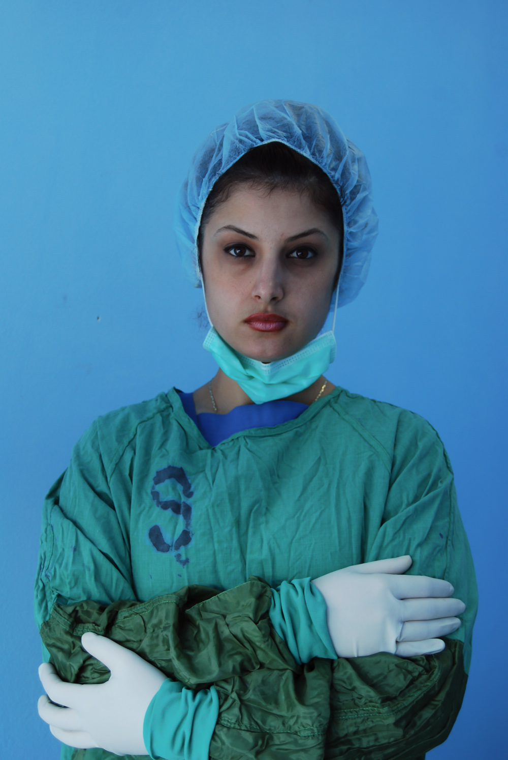 "Portrait of doctor, Surgery Unit, Hospital ""Koco Glozheni"", 2008, Tirana Albania, copyright Alketa Misja photography"