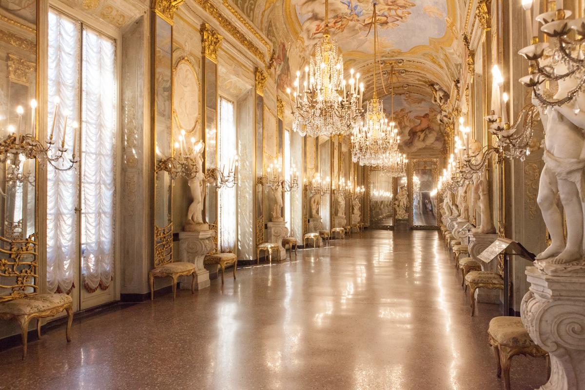 Galleria dei Specchi, Palazzo Reale, Balbi-Durazzo, Genoa Italy, alketamisja photography 2016
