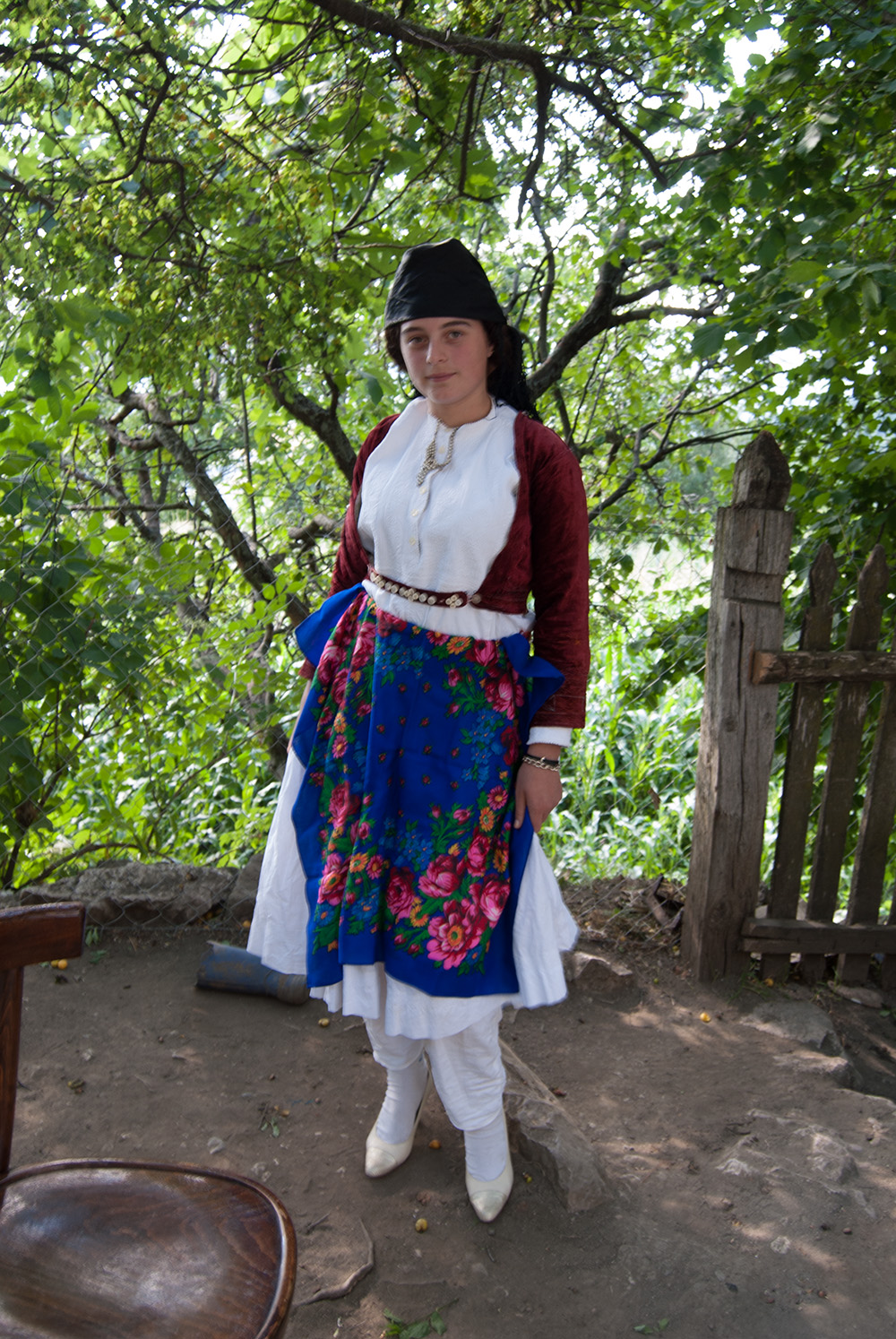 Portrait of a Girl in traditional costume, Orosh Mirditë, © alketa misja photography 2008