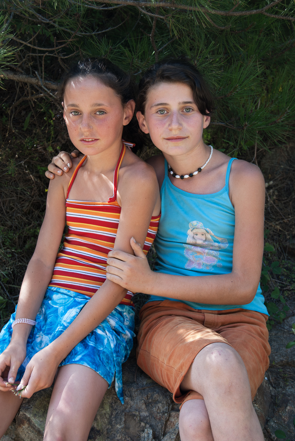 Portrait of two Girls, Orosh Mirditë, © alketa misja photography 2008