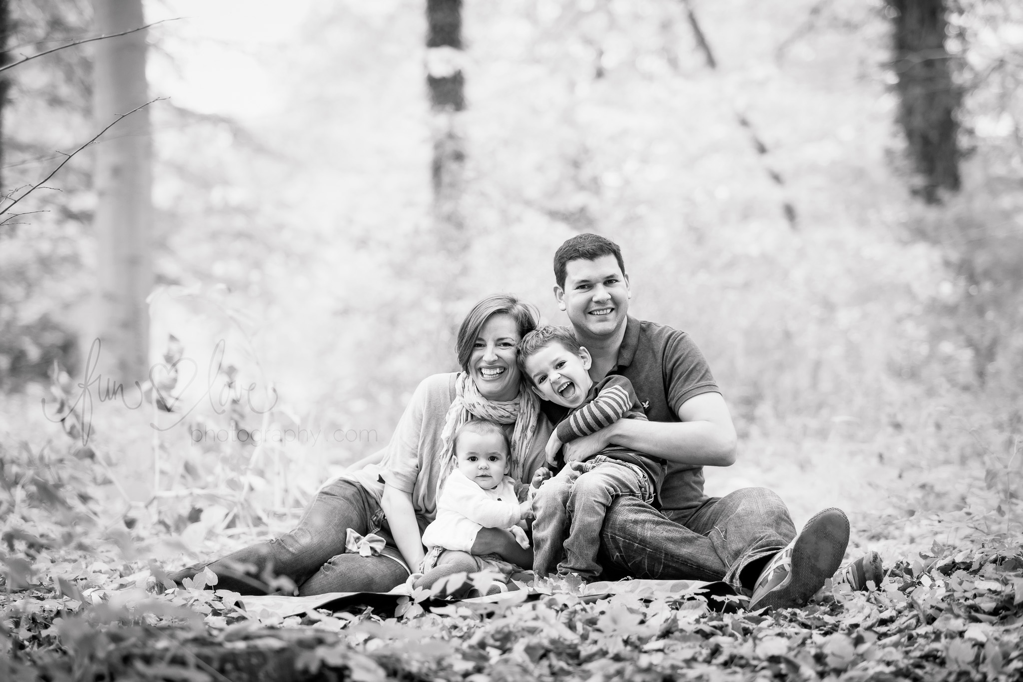Natural Family Photography in the forest