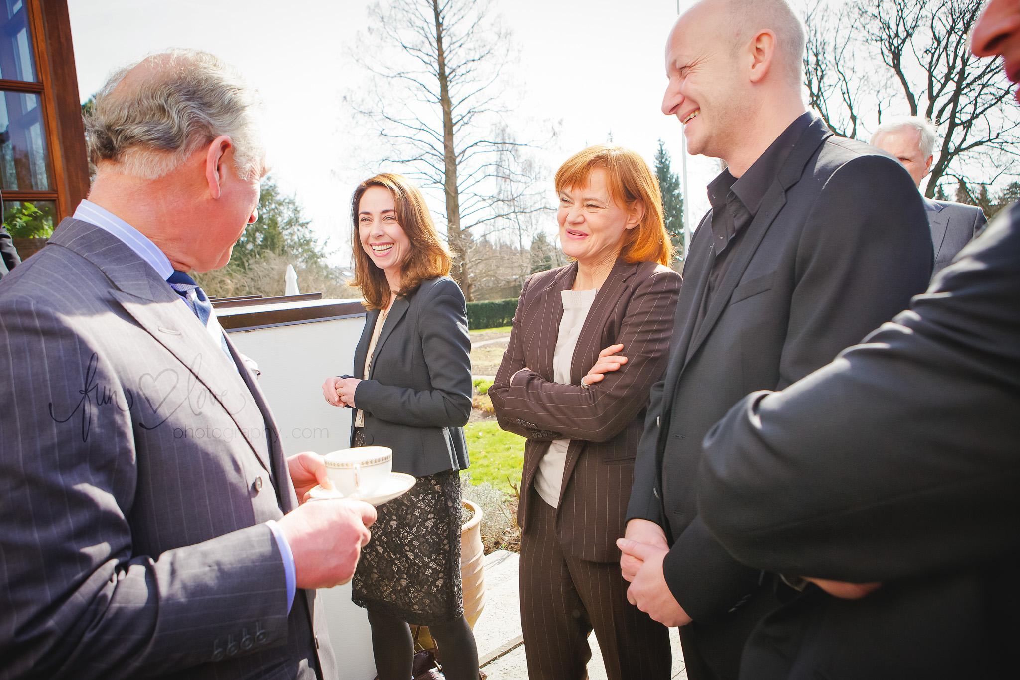 Prince Charles meets Sofie Gråbøl, Piv Bernth and Søren Sveistrup