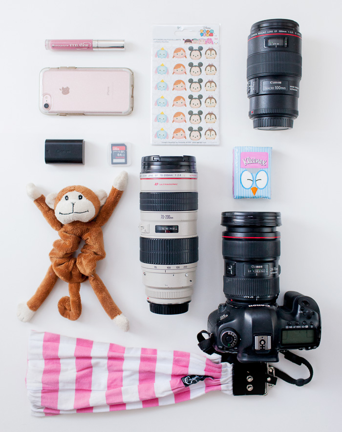 contents of family photographer bag