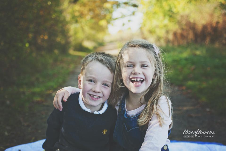 Three Flowers Photography Essex Lifestyle Photographer Autumn Sibling Portrait