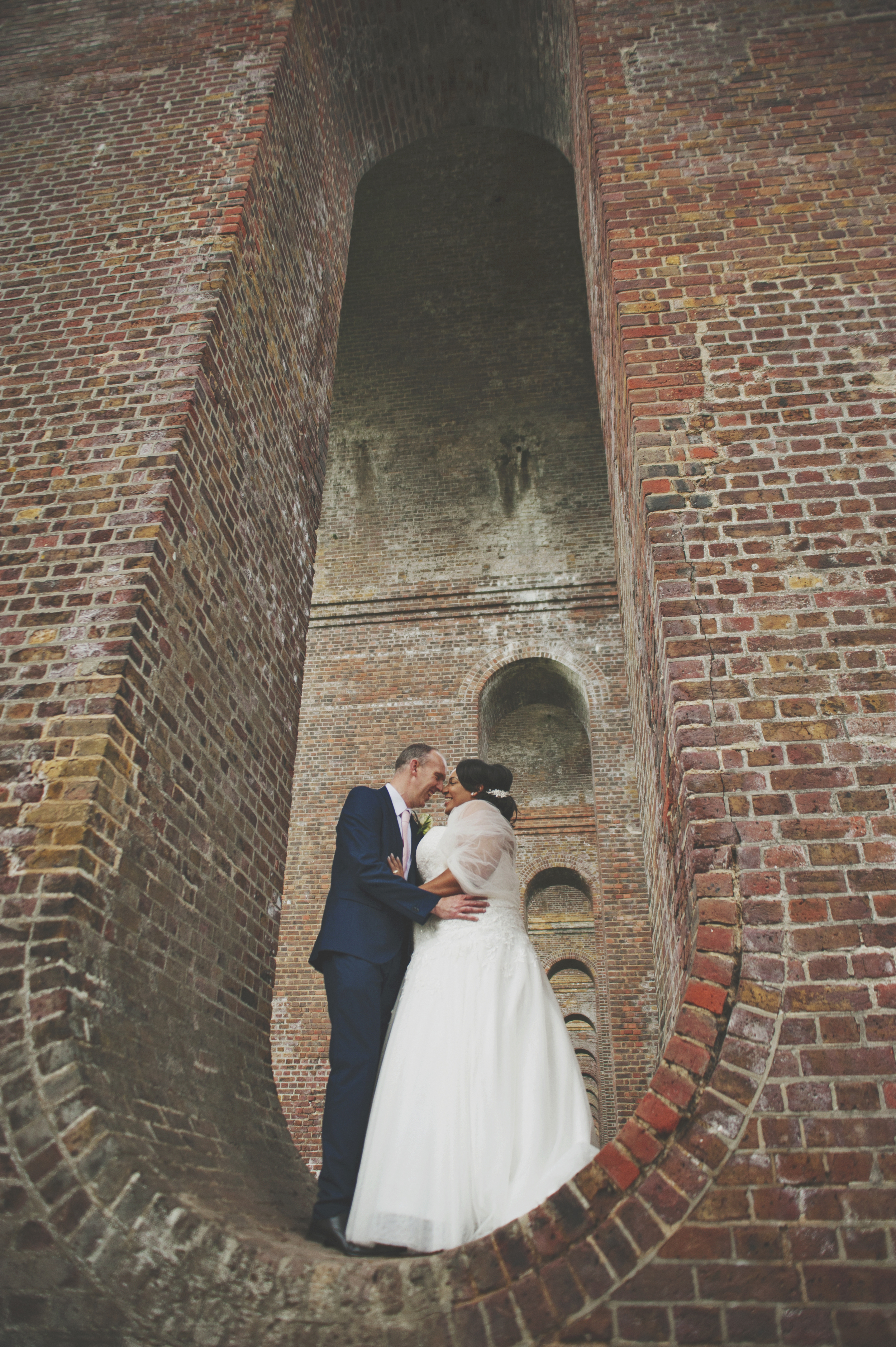 Three Flowers Photography Essex Viaduct Bride and Groom