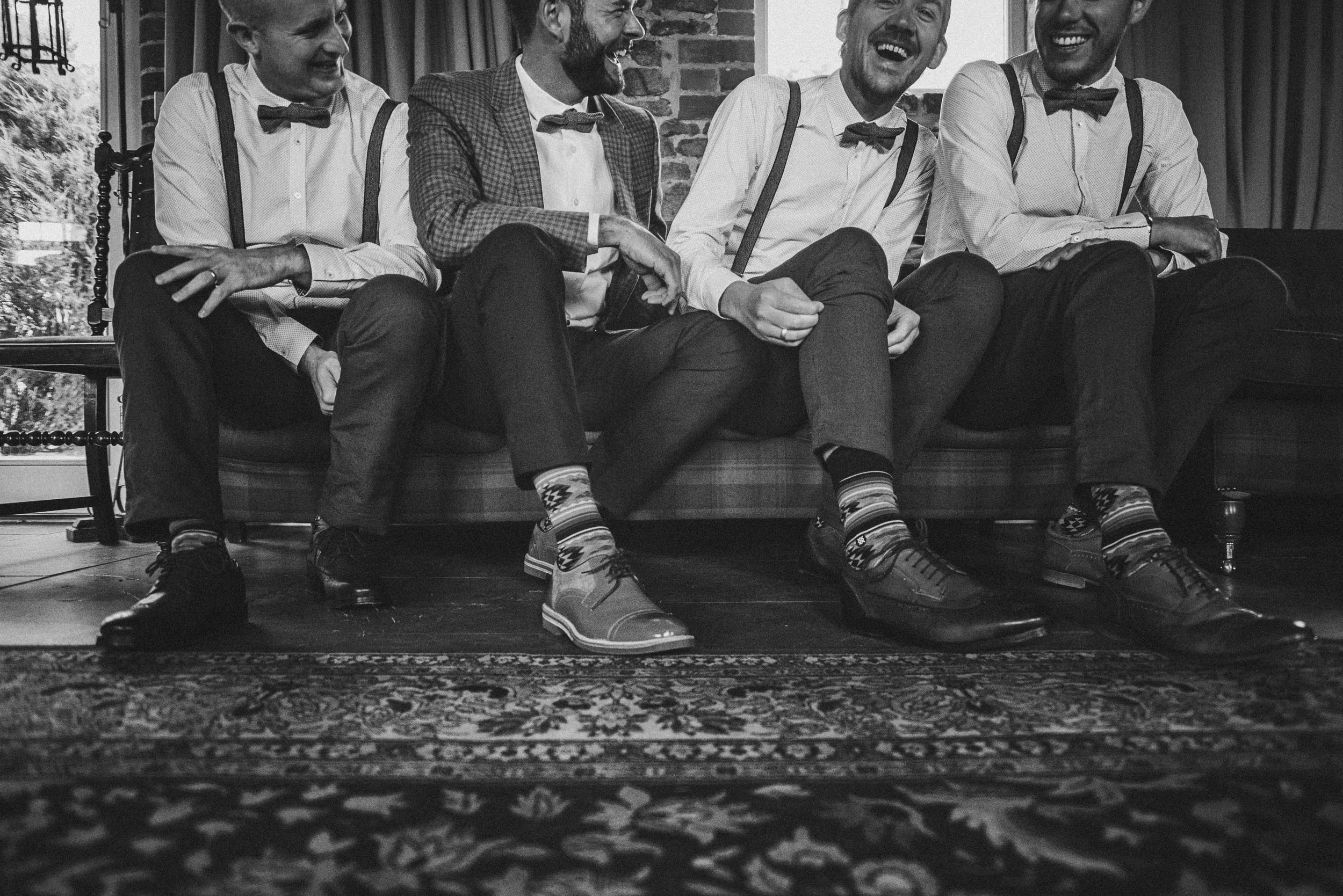 Groom & Groomsmen for Mexican Cliff Barns Norfolk Essex UK Documentary Wedding Photographer