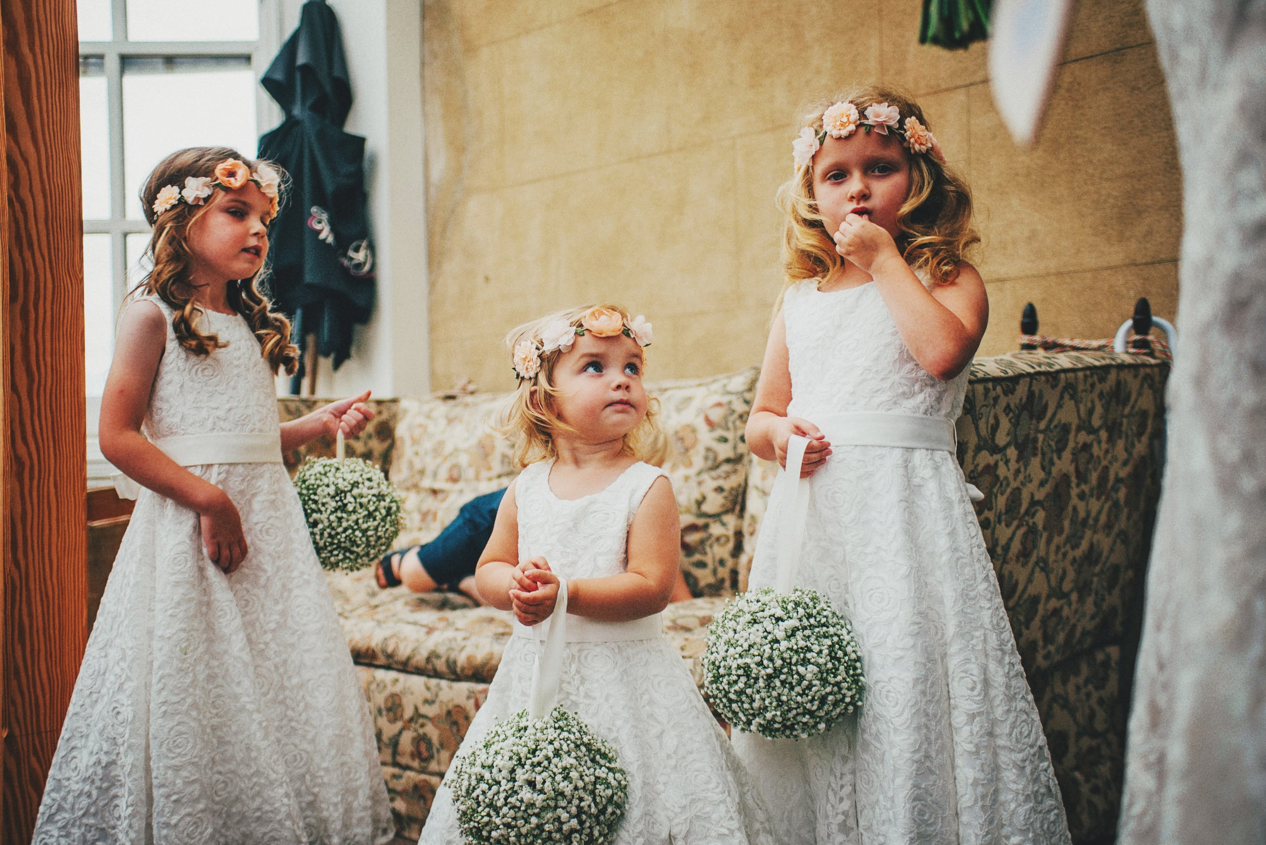 Rustic Flower girls Essex UK Documentary Wedding Photographer