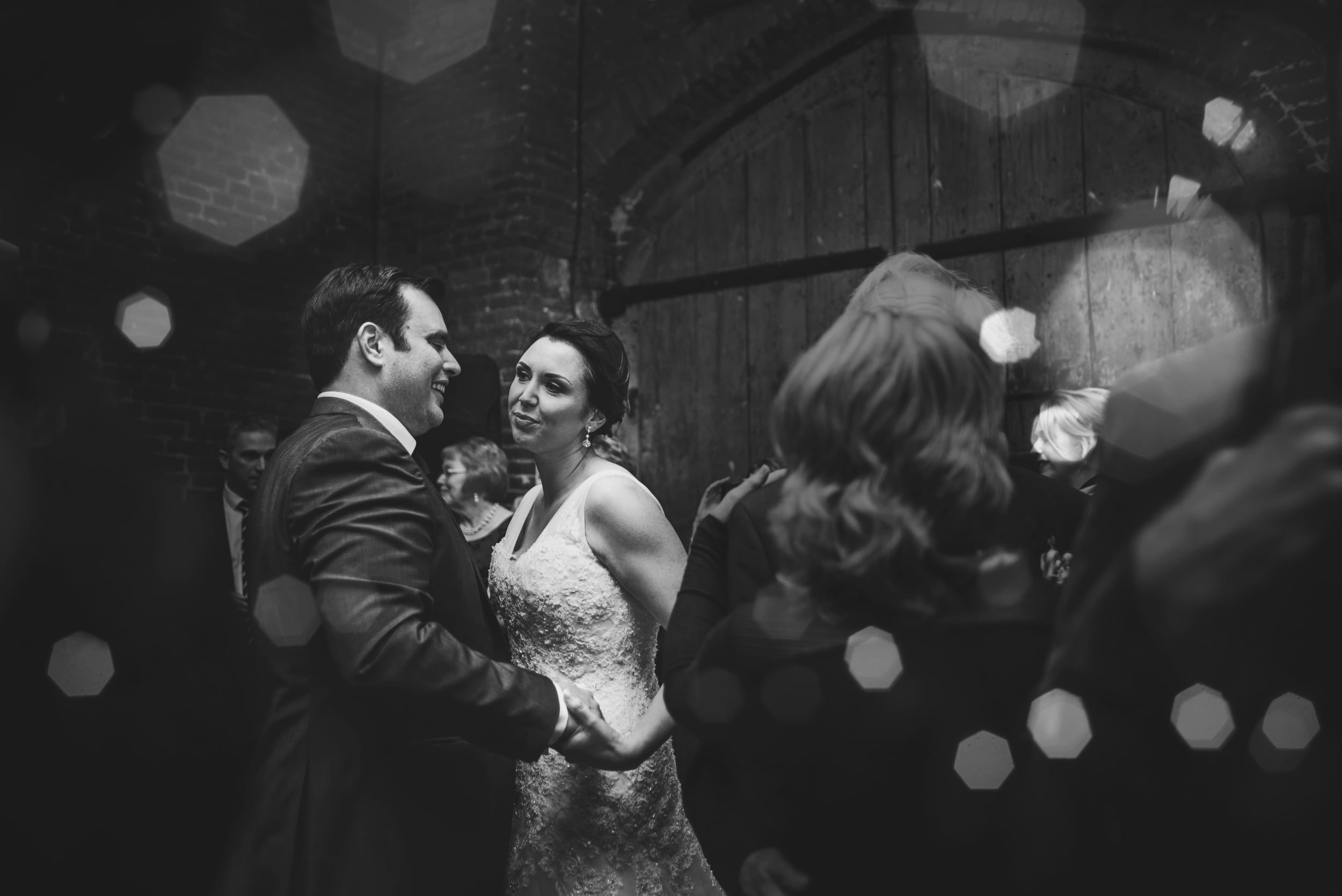 Bride and Groom first dance Leez Priory Christmas Wedding Essex UK Documentary Wedding Photographer
