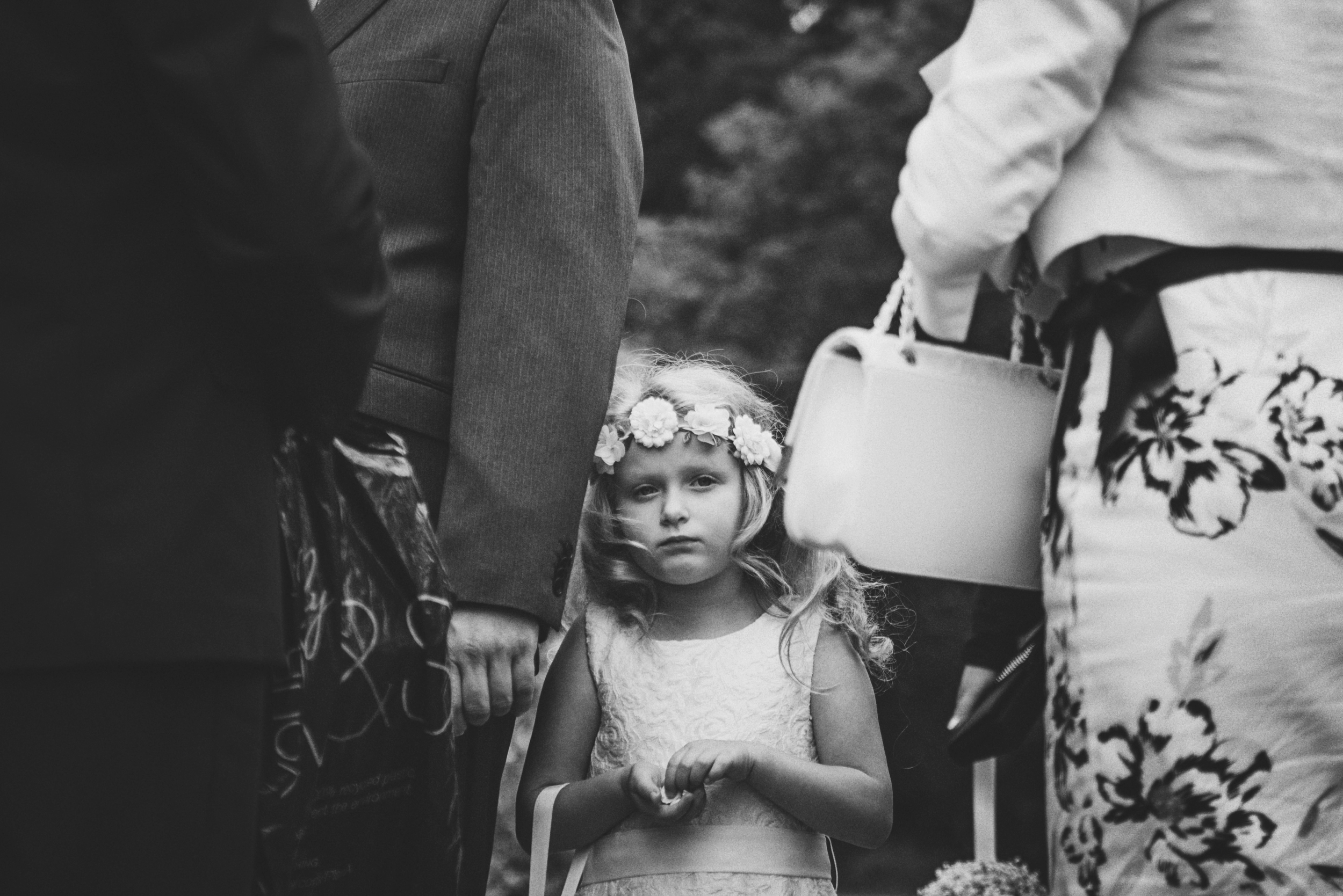 Flower Girl Vintage Essex UK Documentary Wedding Photographer