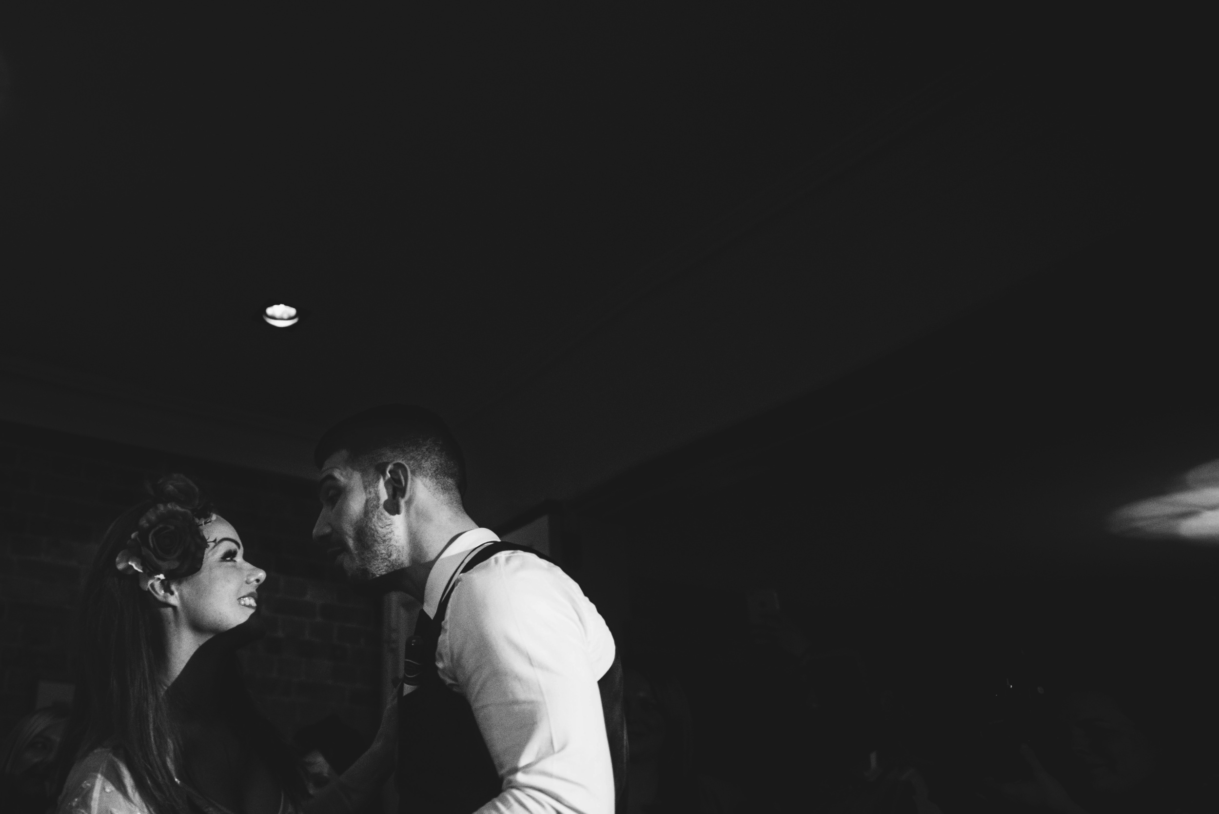 Bride Groom First Dance Vintage London Pub Essex UK Documentary Wedding Photographer