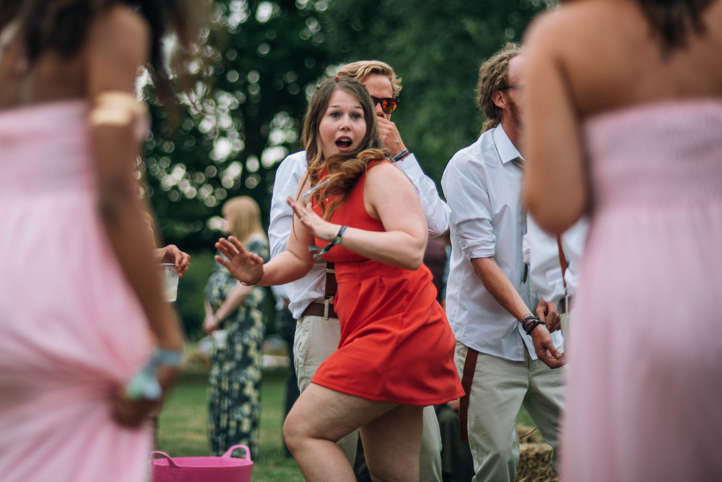 dancing guest at festival wedding essex uk documentary wedding photographer