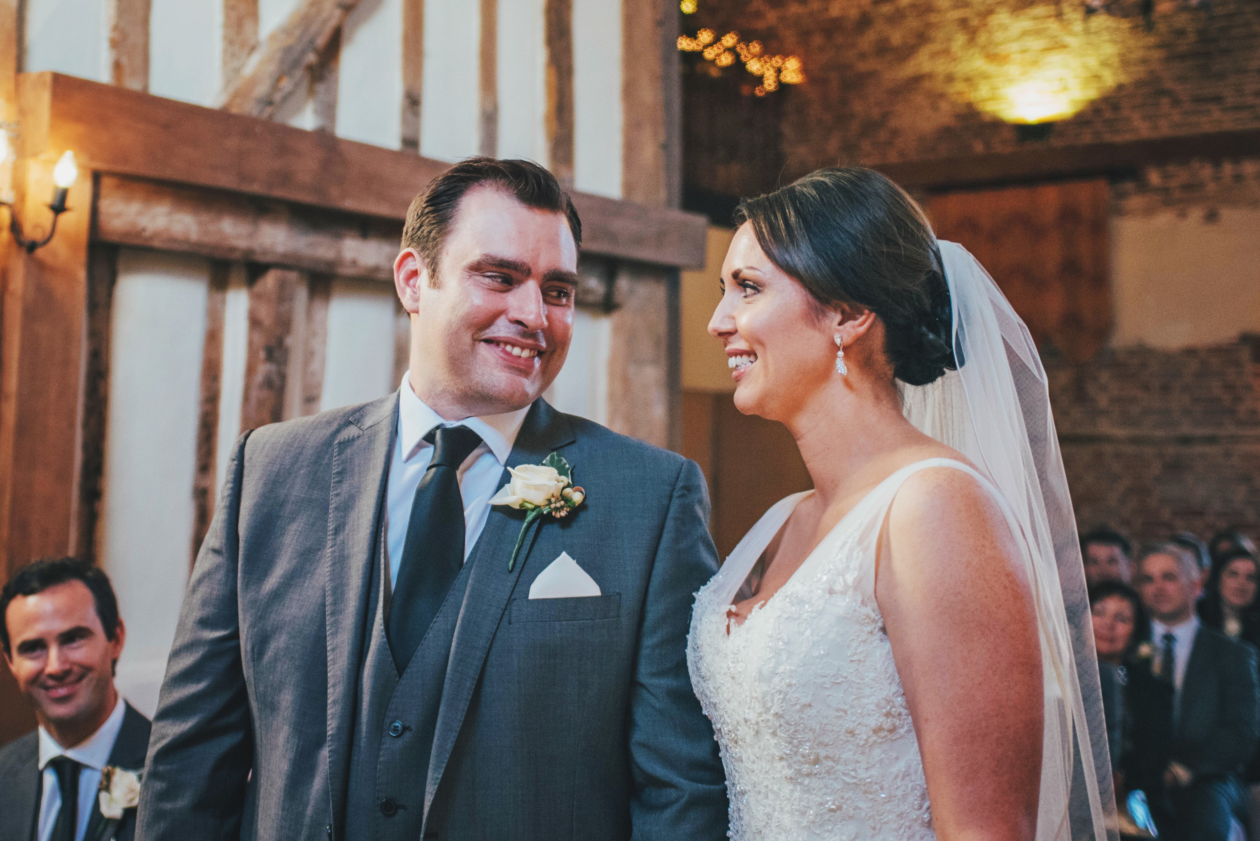 Bride & Groom Leez Priory Christmas Essex UK Documentary Wedding Photographer
