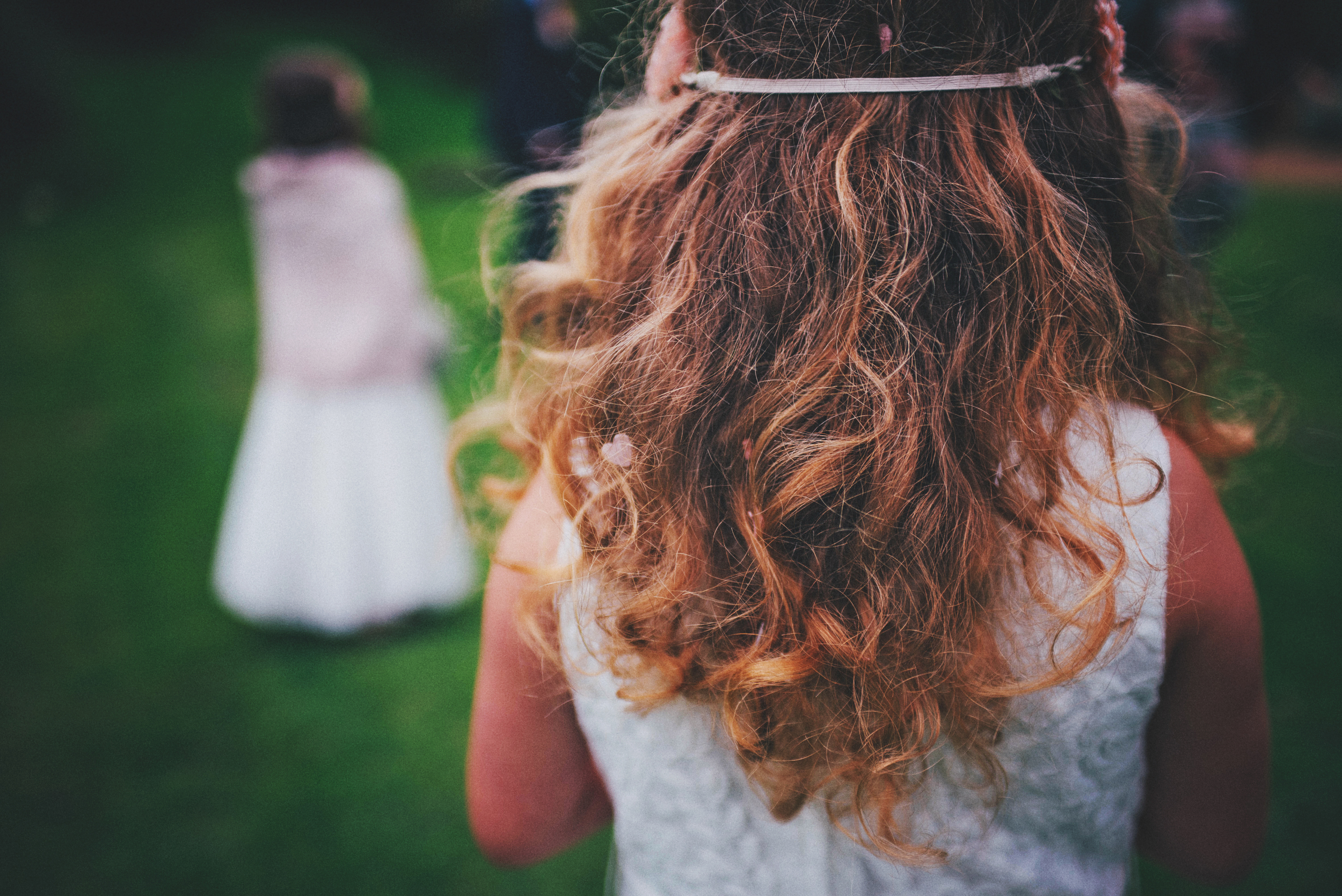Flower girl confetti hair Essex UK Documentary Wedding PHotographer