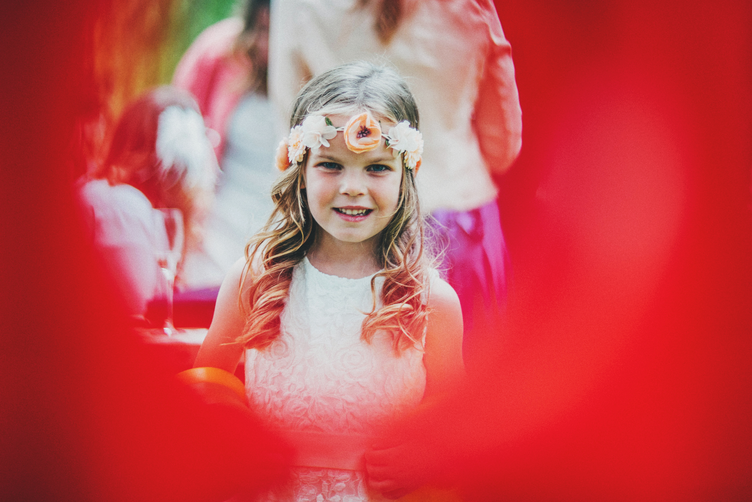 Flower Girl Rustic Pub Essex UK Documentary Wedding Photographer