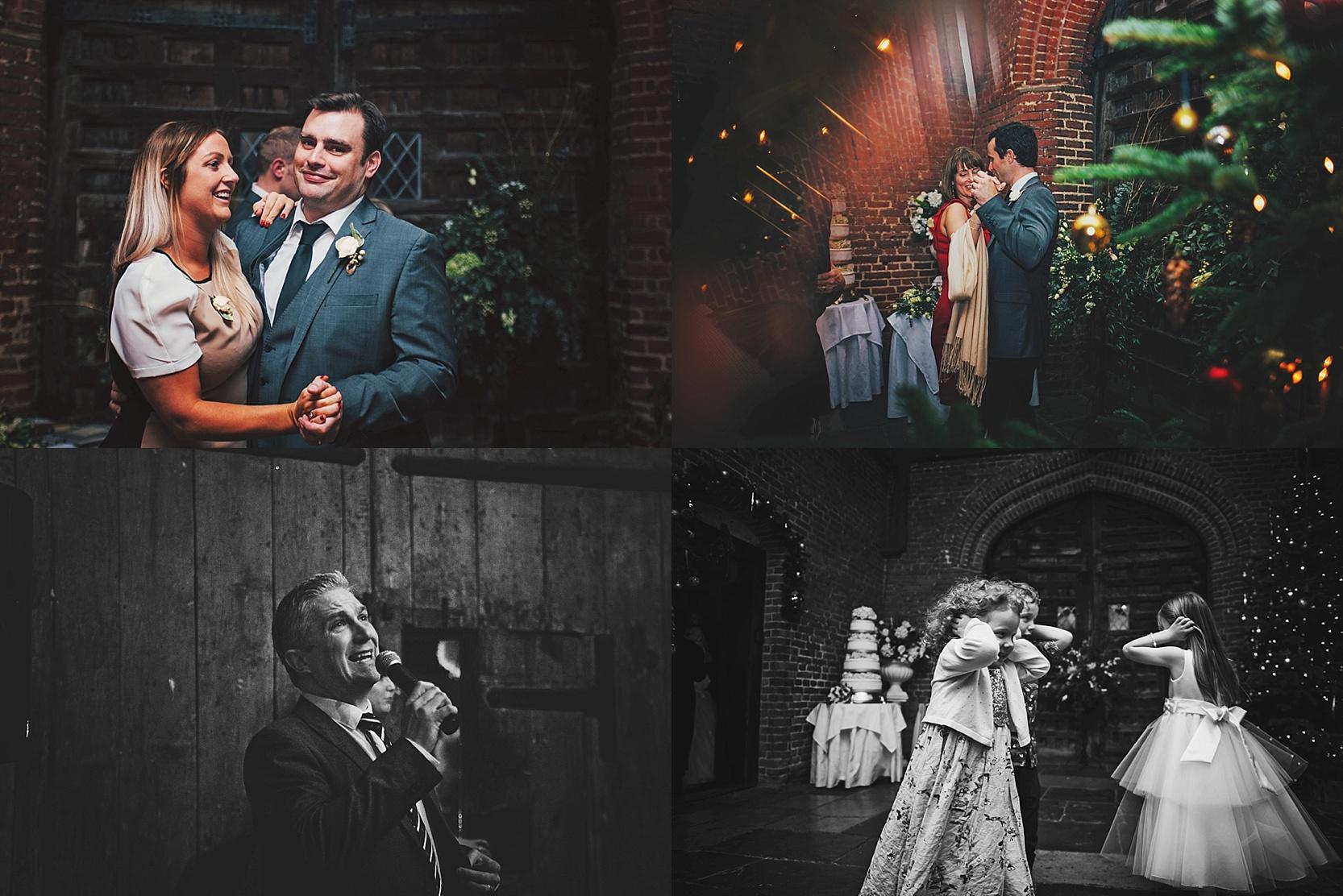 A Christmas Leez Priory Wedding Essex UK Documentary Wedding Photographer