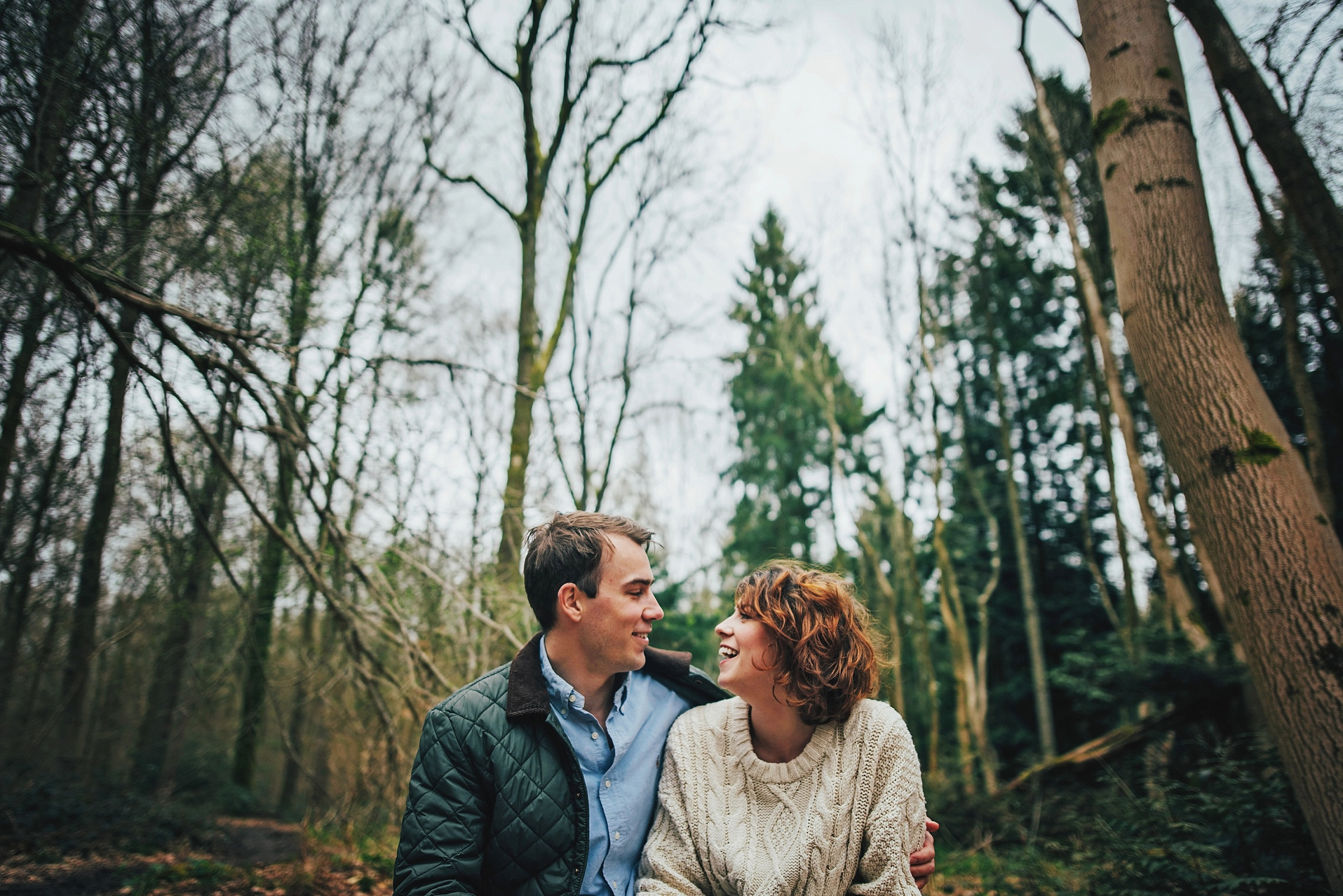Love Shoot Couples Portraits Candover Woods Essex UK Documentary Portrait and Lifestyle Photographer