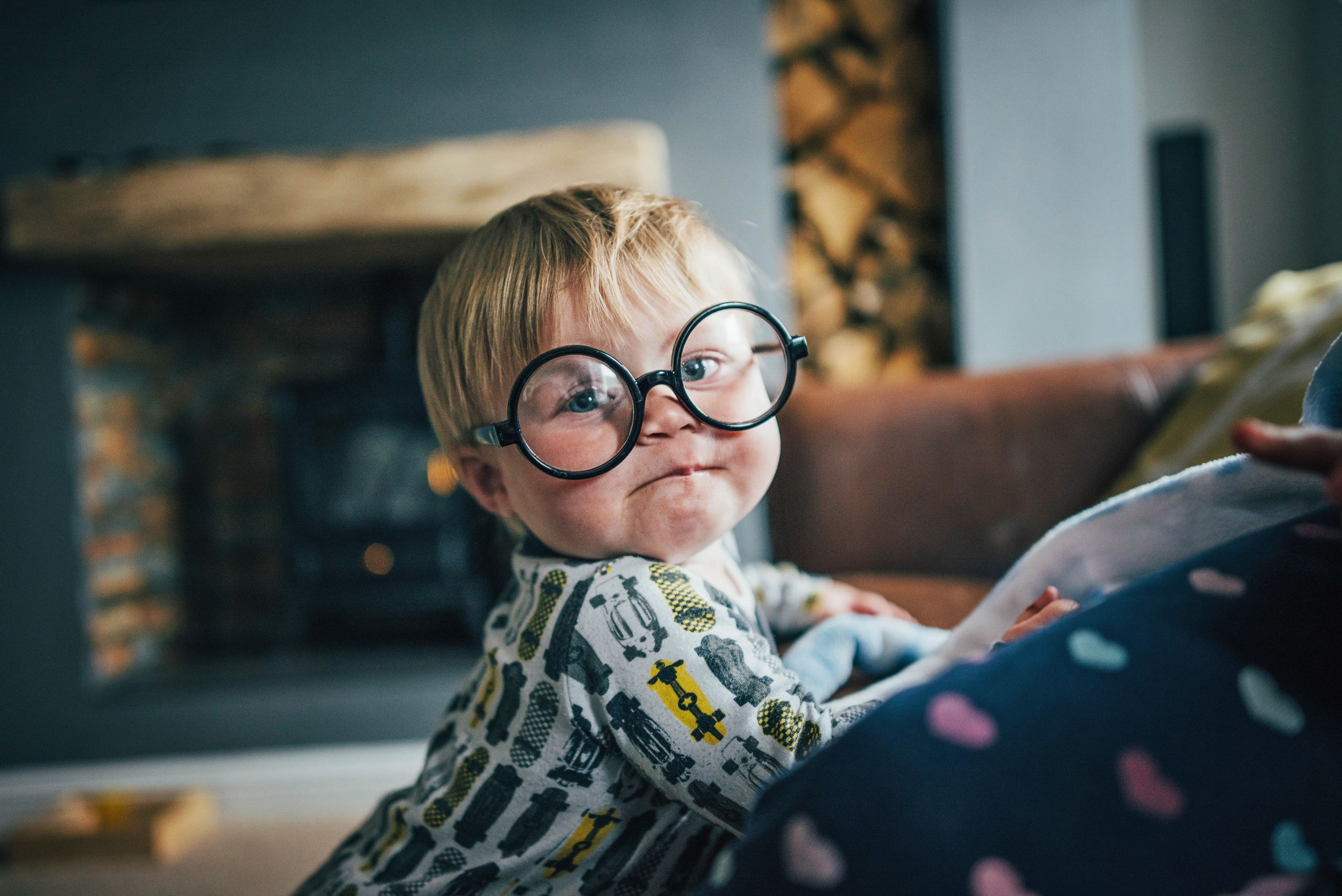 Baby boy in Harry Potter Glasses Essex UK Documentary Portrait and Lifestyle Photographer