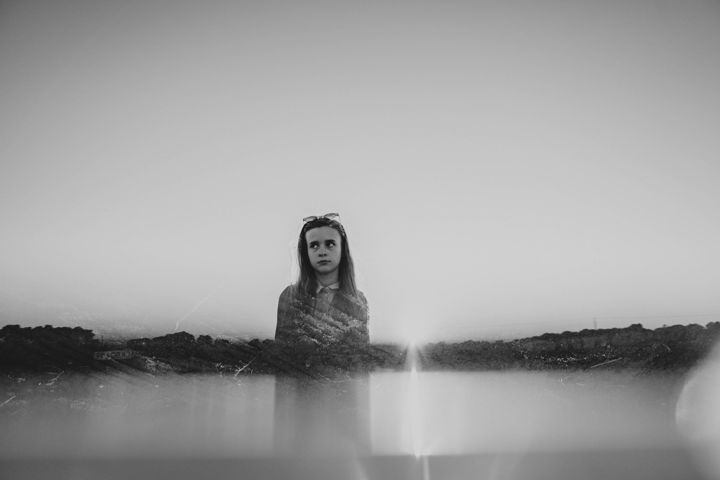 Young girl Prism reflection Essex UK Documentary Portrait Photographer