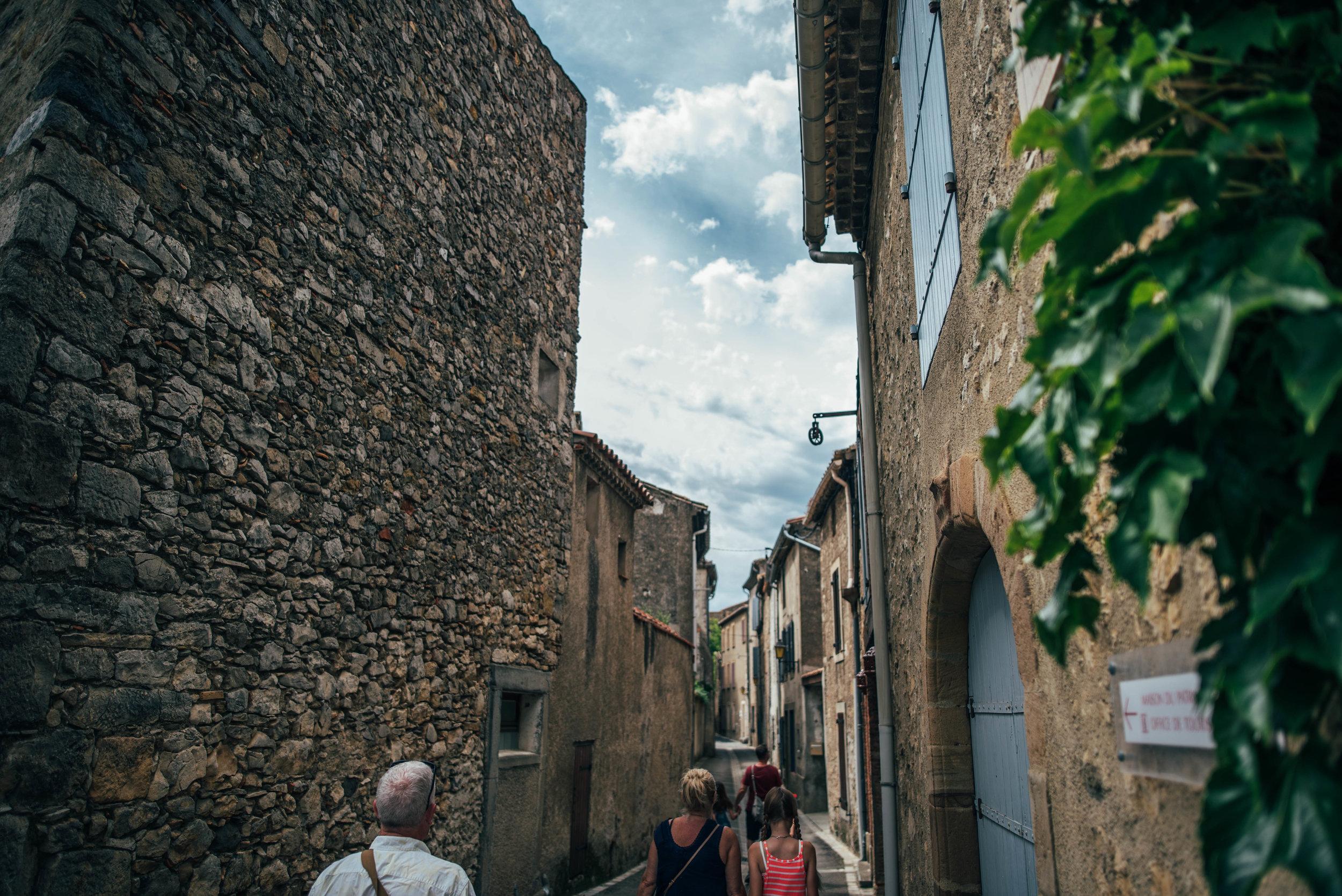 Streets of Lagrasse France Essex UK Documentary Photographer