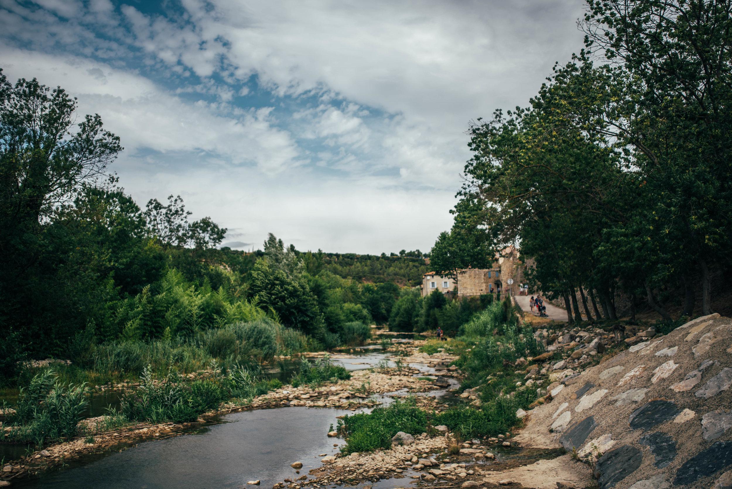 River banks in Lagrasse France Essex UK Documentary Photographer