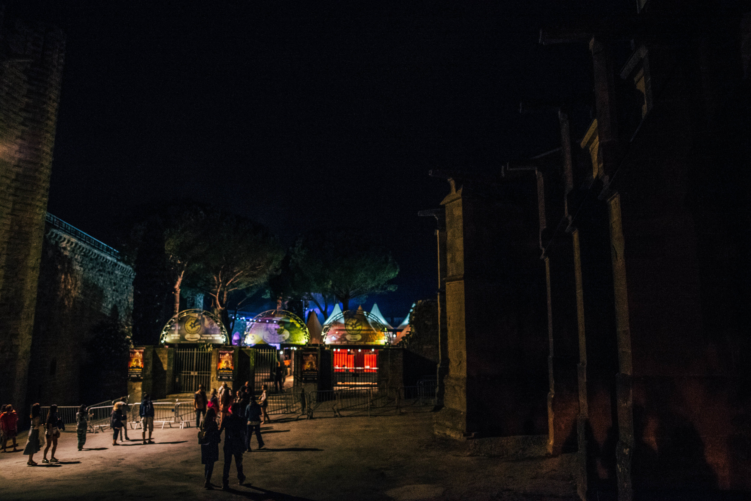 Carcassonne Citadel at night Essex UK Documentary Photographer