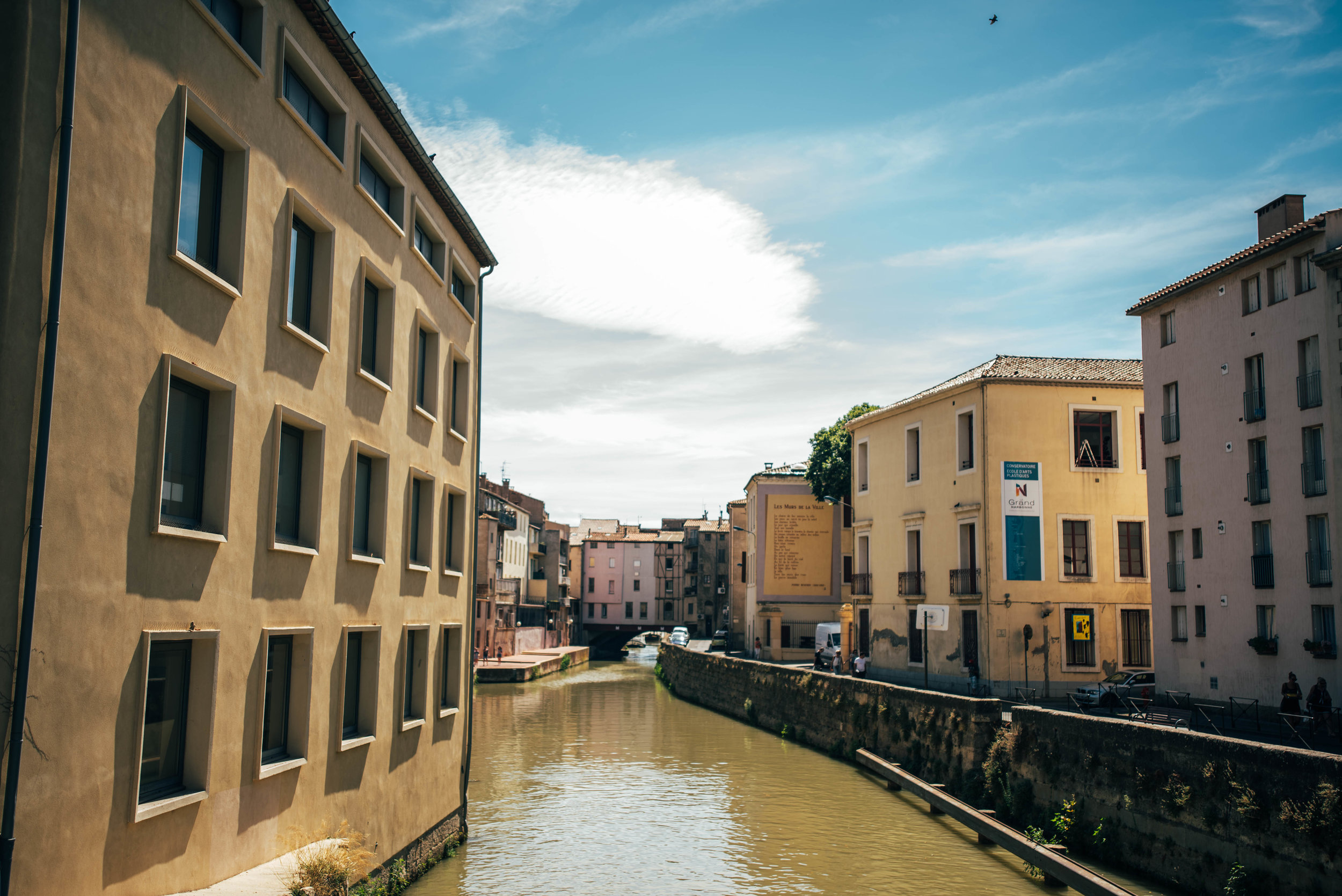Canal at Narbonne France Essex UK Documentary Photographer