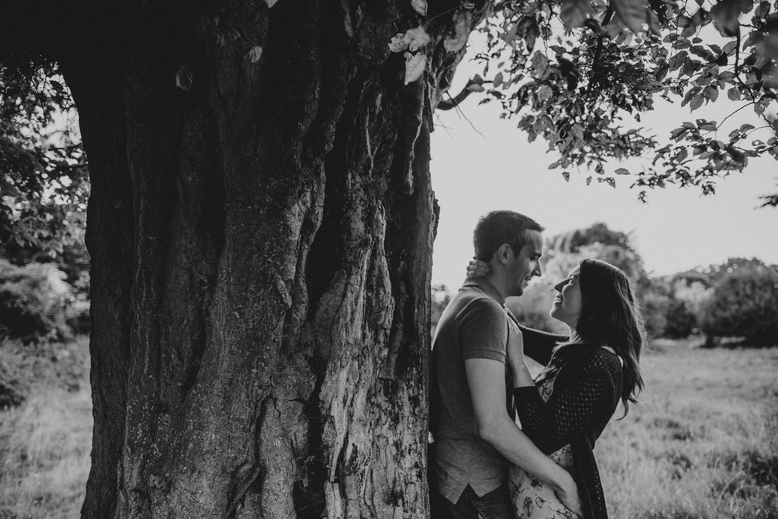 Forest at Sunset Couples Portrait Shoot Essex UK Documentary Portrait Photographer