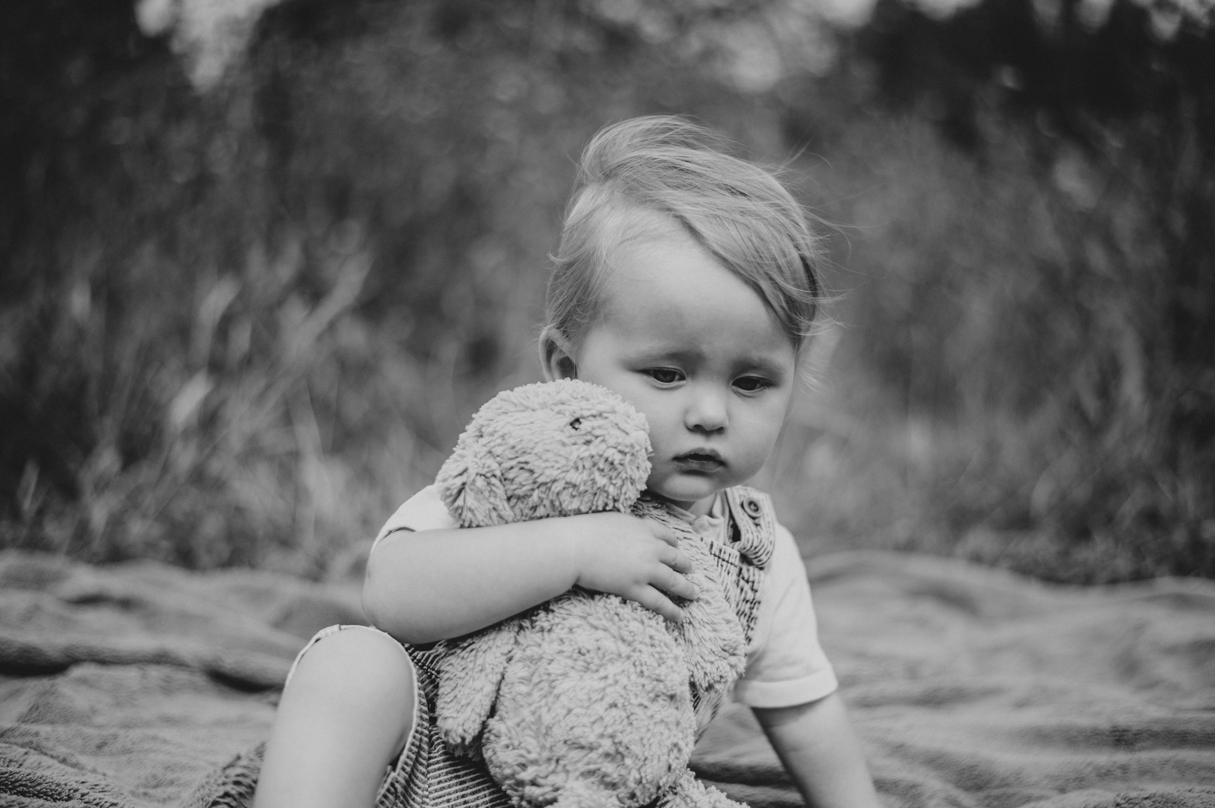 Baby boy with teddy Essex UK Documentary Portrait Photographer