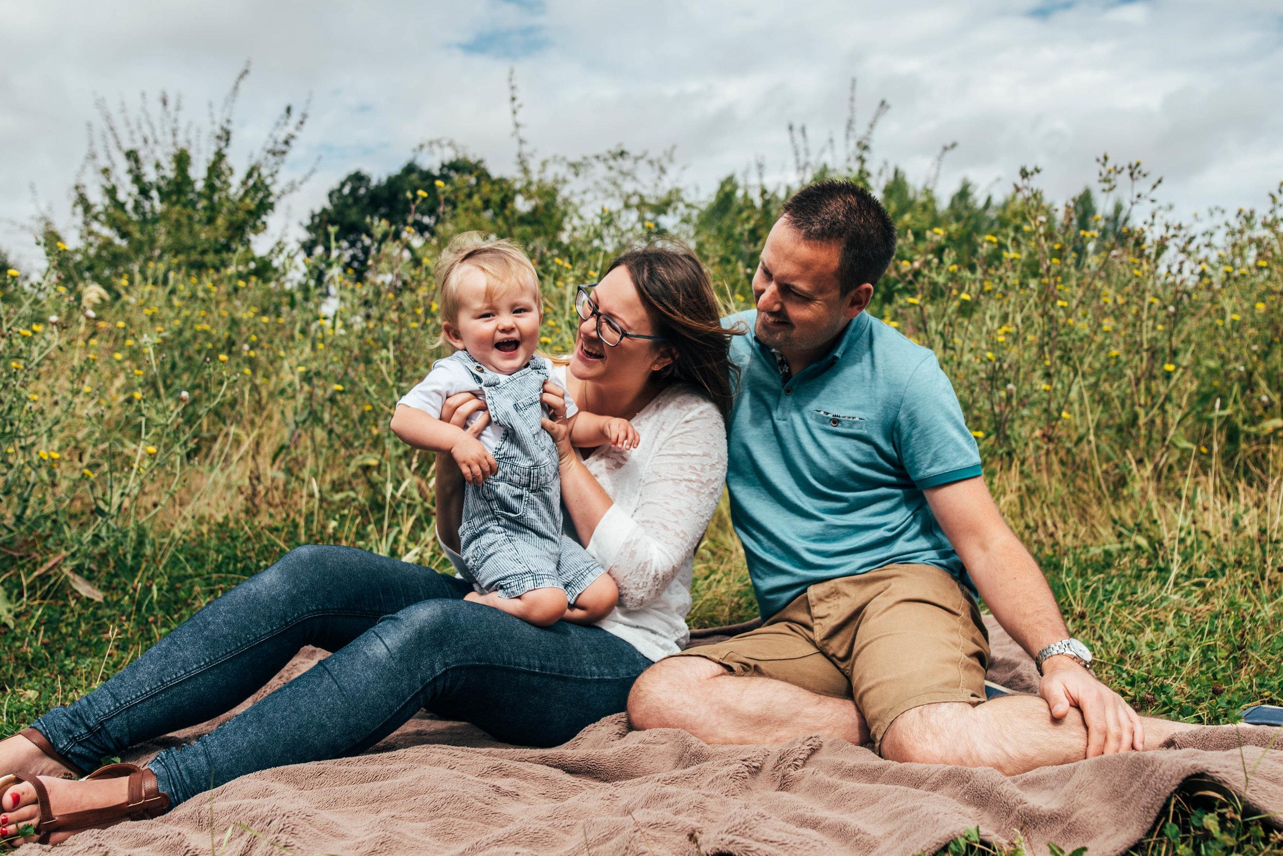 Mum Dad with baby Boy Essex UK Documentary Portrait Photographer