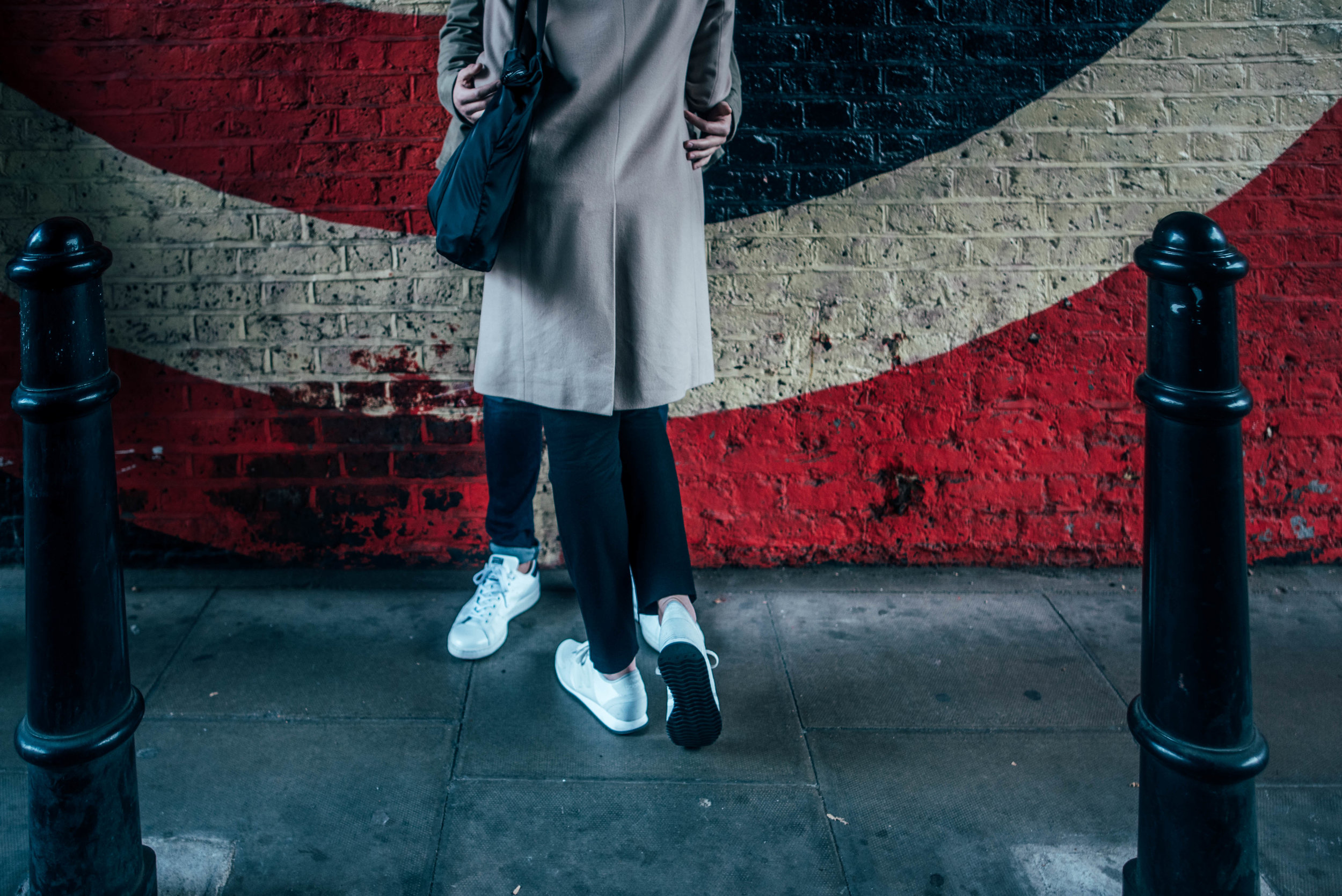 Urban Love Shoot in Shoreditch Brick Land Modern Couple Essex UK Documentary Wedding Photographer
